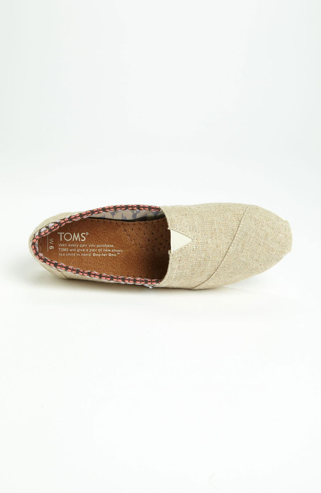 Alternate Image 3  - TOMS 'Classic - Trim' Slip-On (Women)