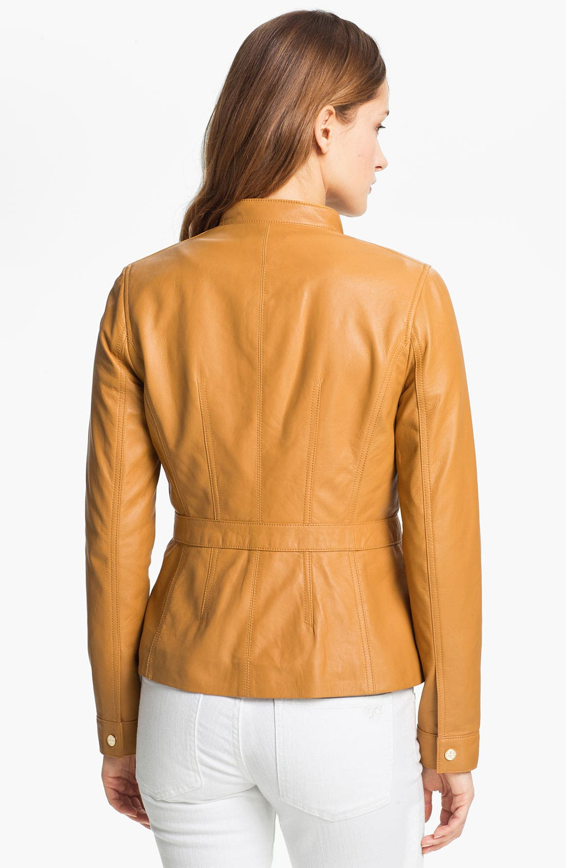 Alternate Image 2  - Tory Burch 'Beacon' Leather Moto Jacket