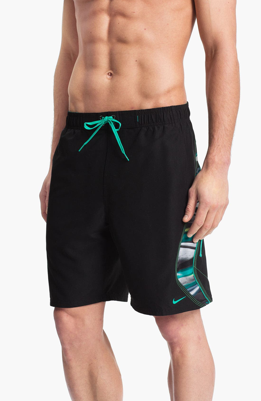 Alternate Image 1 Selected - Nike 'Laser Stripes Splice' Volley Shorts
