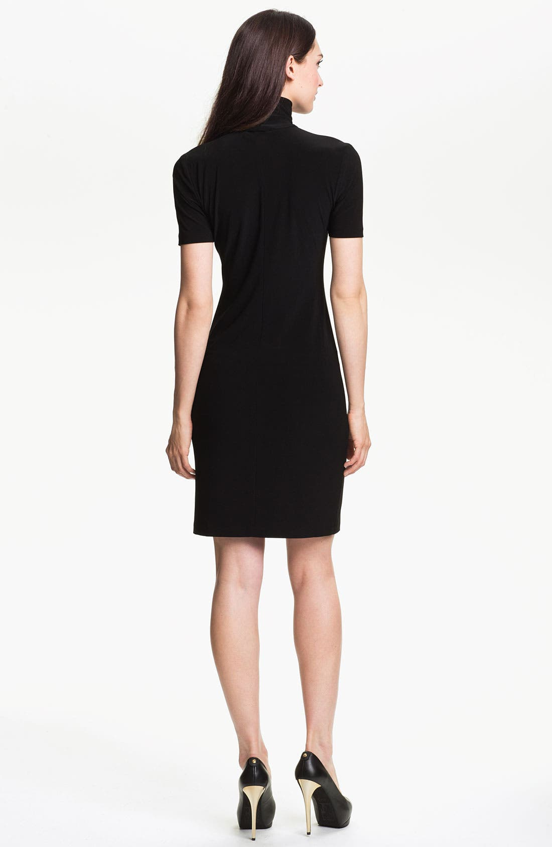 Alternate Image 2  - KAMALIKULTURE Short Sleeve Turtleneck Dress