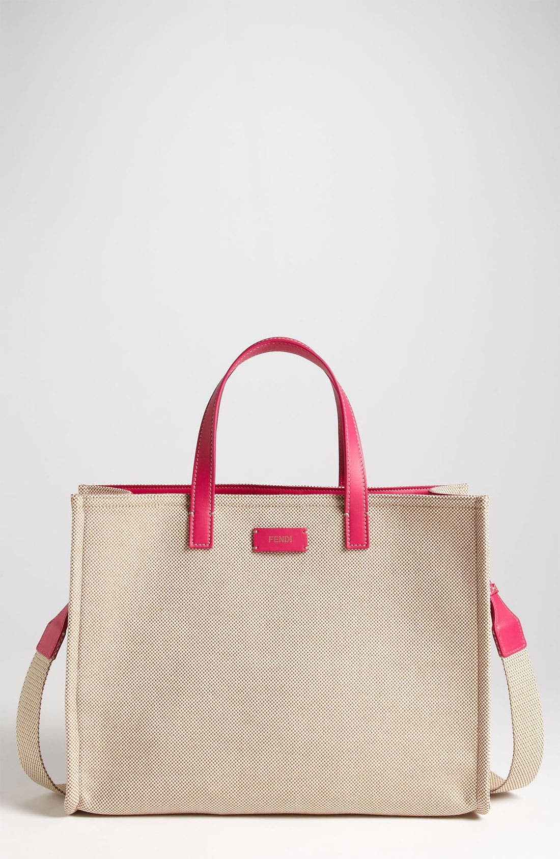 Alternate Image 1 Selected - Fendi 'Small Karl' Canvas Tote