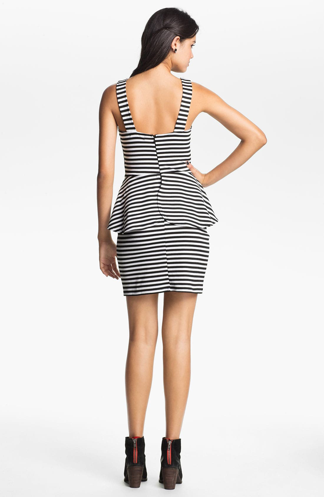 Alternate Image 2  - Liberty Love Stripe Peplum Dress (Juniors)
