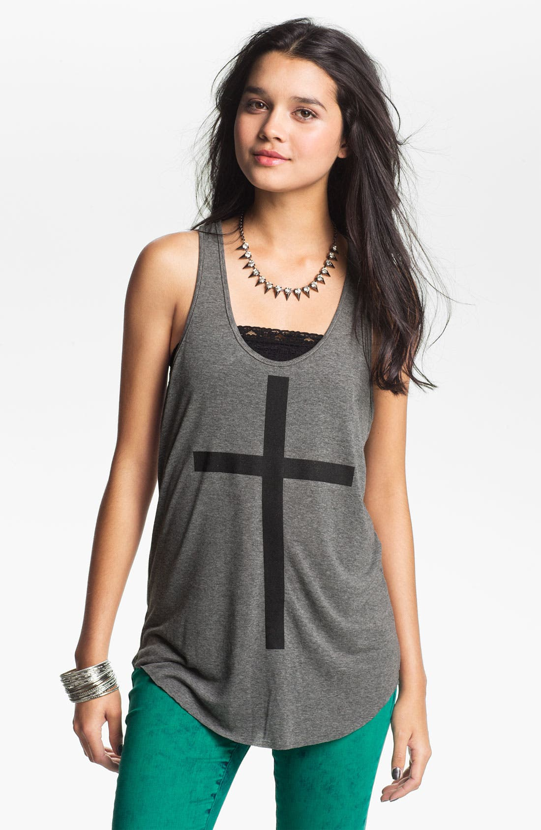 Alternate Image 1 Selected - Project Social T 'Cross' Tank (Juniors)