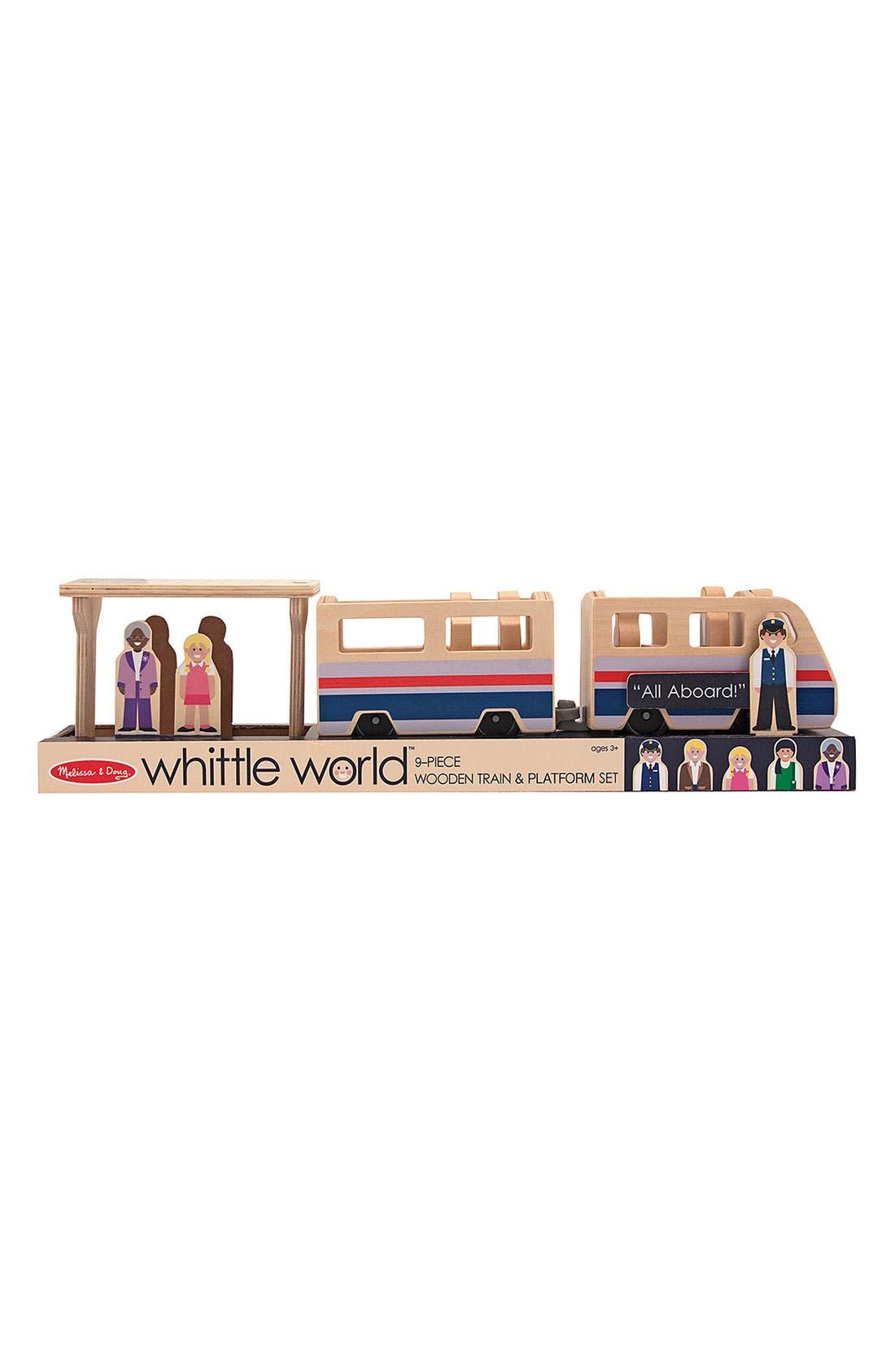 Alternate Image 2  - Melissa & Doug 'Whittle World' Wooden Train & Platform Toy