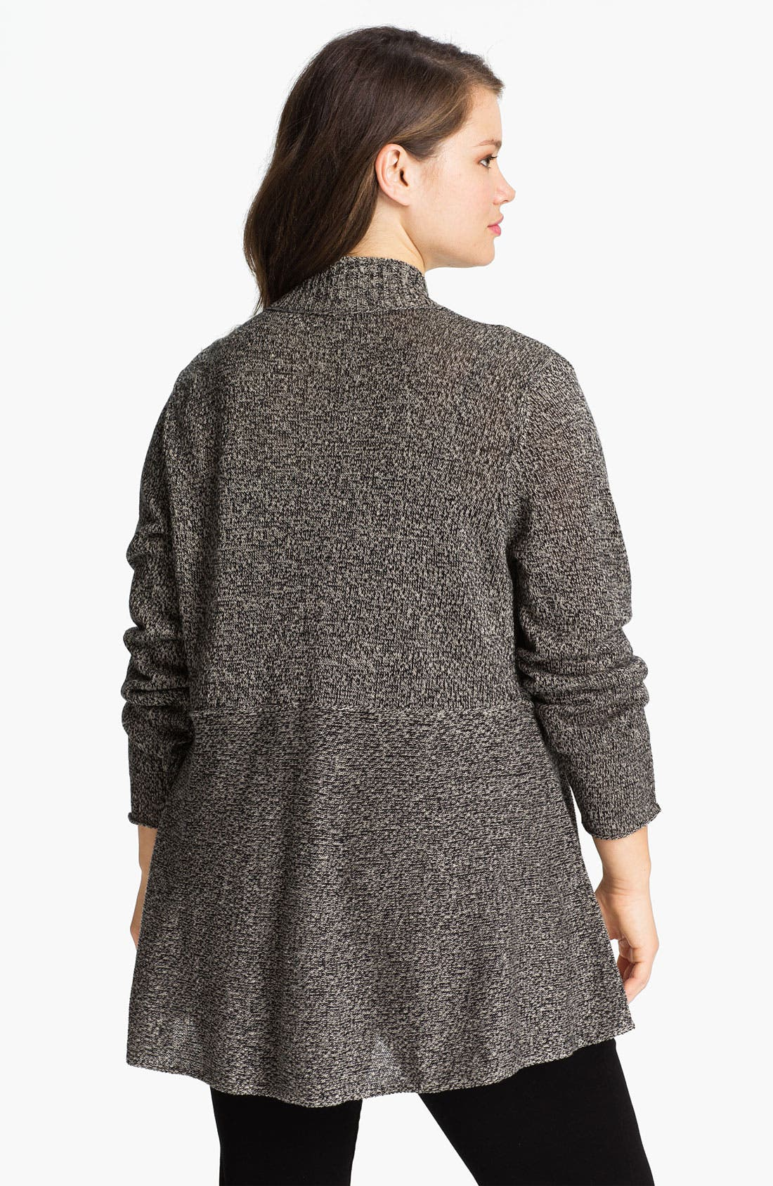Alternate Image 2  - Eileen Fisher Shaped Open Front Cardigan (Plus)