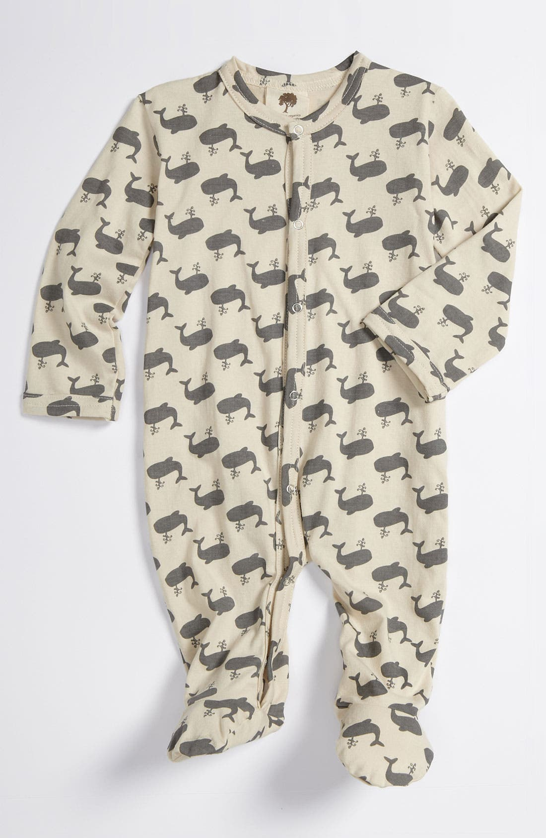 Alternate Image 1 Selected - Kate Quinn Organics Print Footie (Infant)
