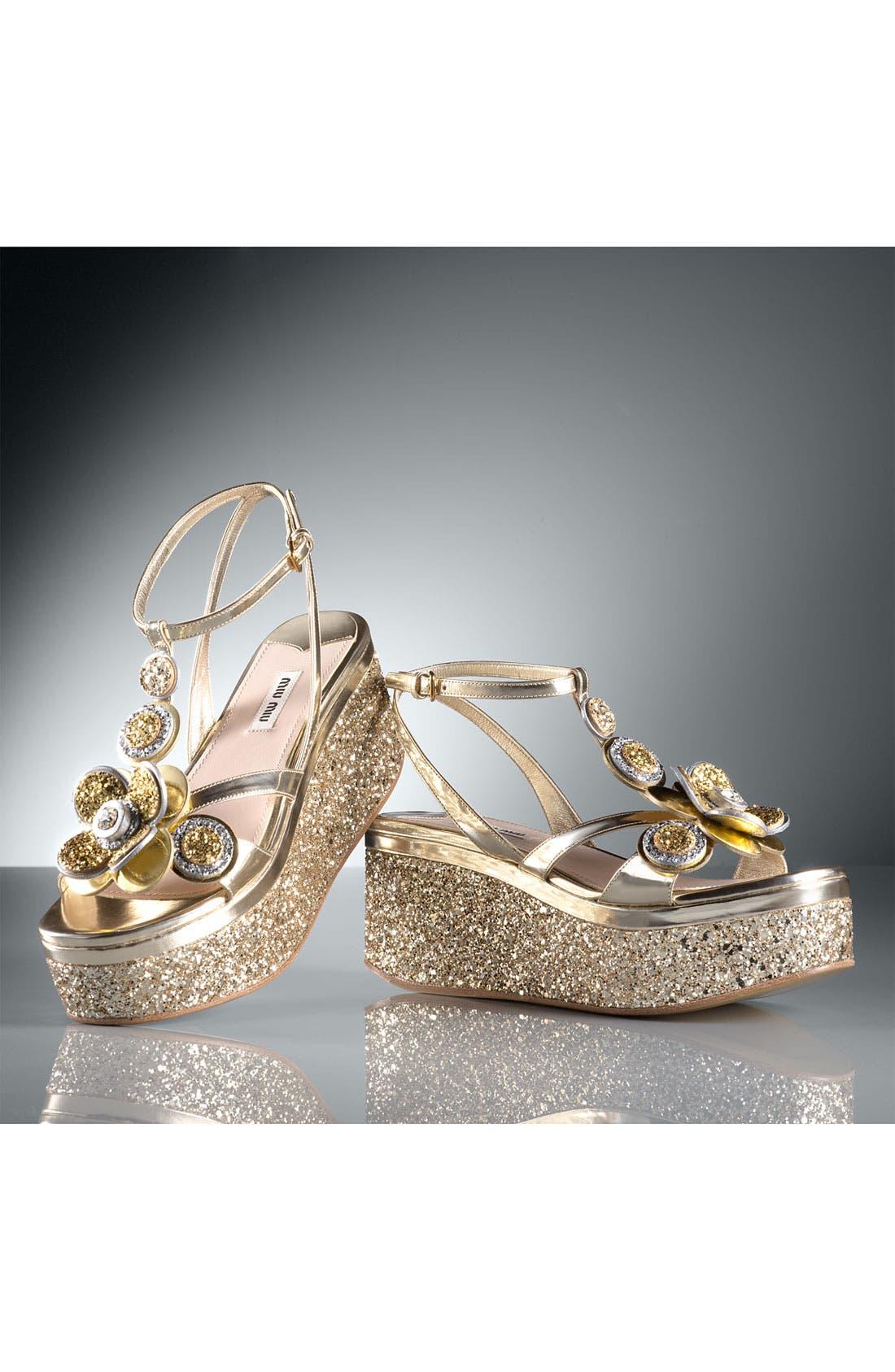 Alternate Image 5  - Miu Miu Flower Platform Sandal