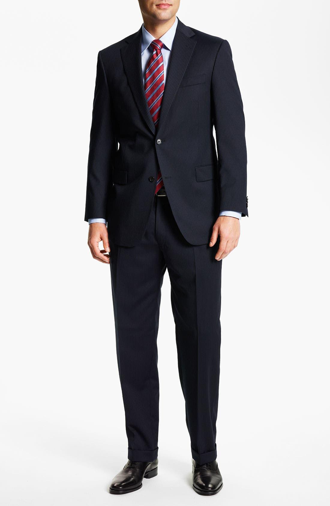 Alternate Image 2  - Hart Schaffner Marx Stripe Suit