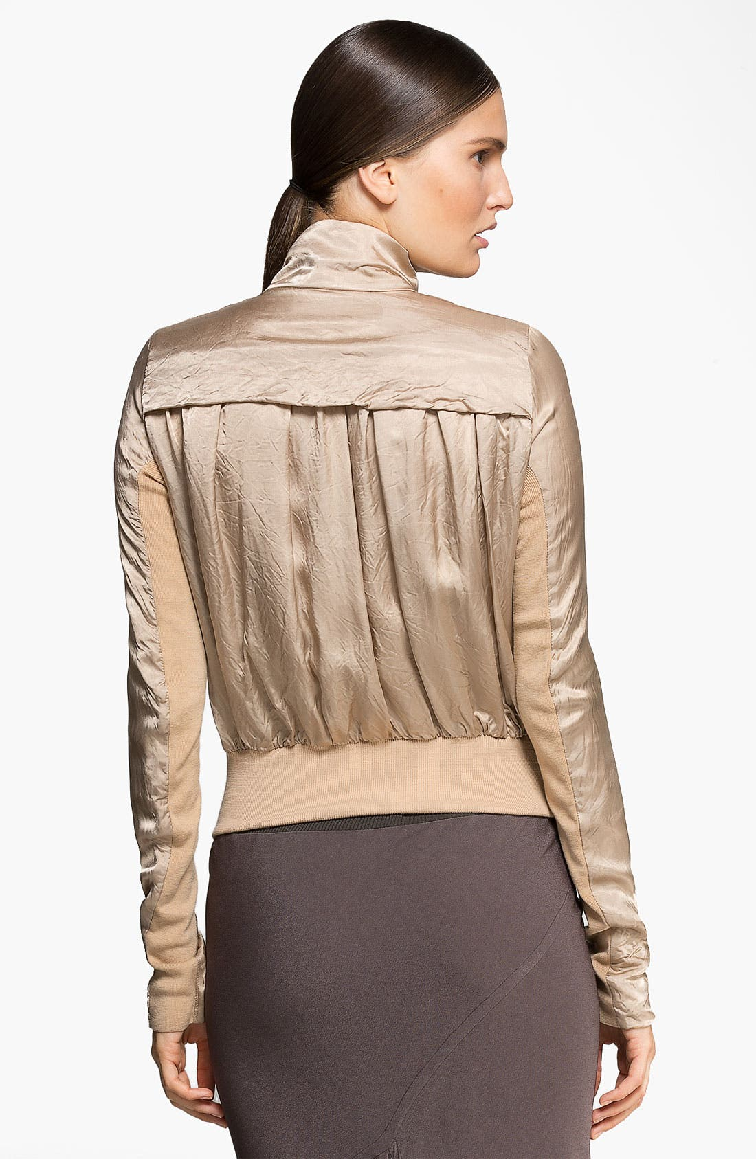 Alternate Image 2  - Rick Owens Drape Back Bomber Jacket