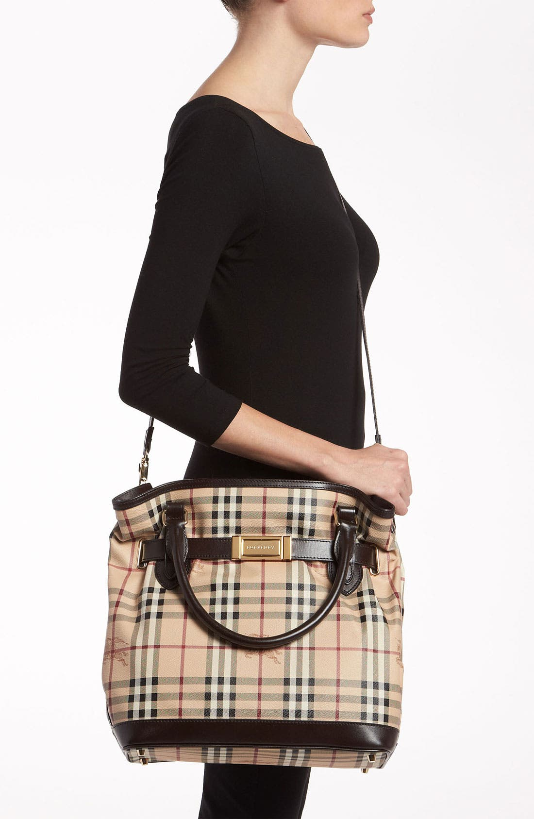 Alternate Image 2  - Burberry Belted Check Print Shoulder Bag