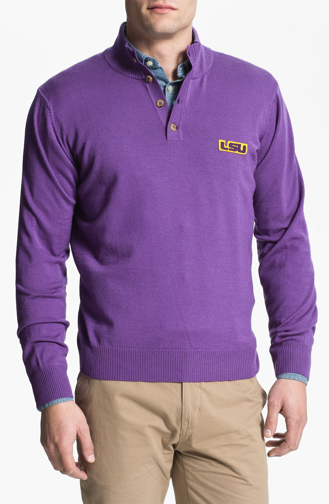 Alternate Image 1 Selected - Thomas Dean 'Louisiana State University' Wool Sweater