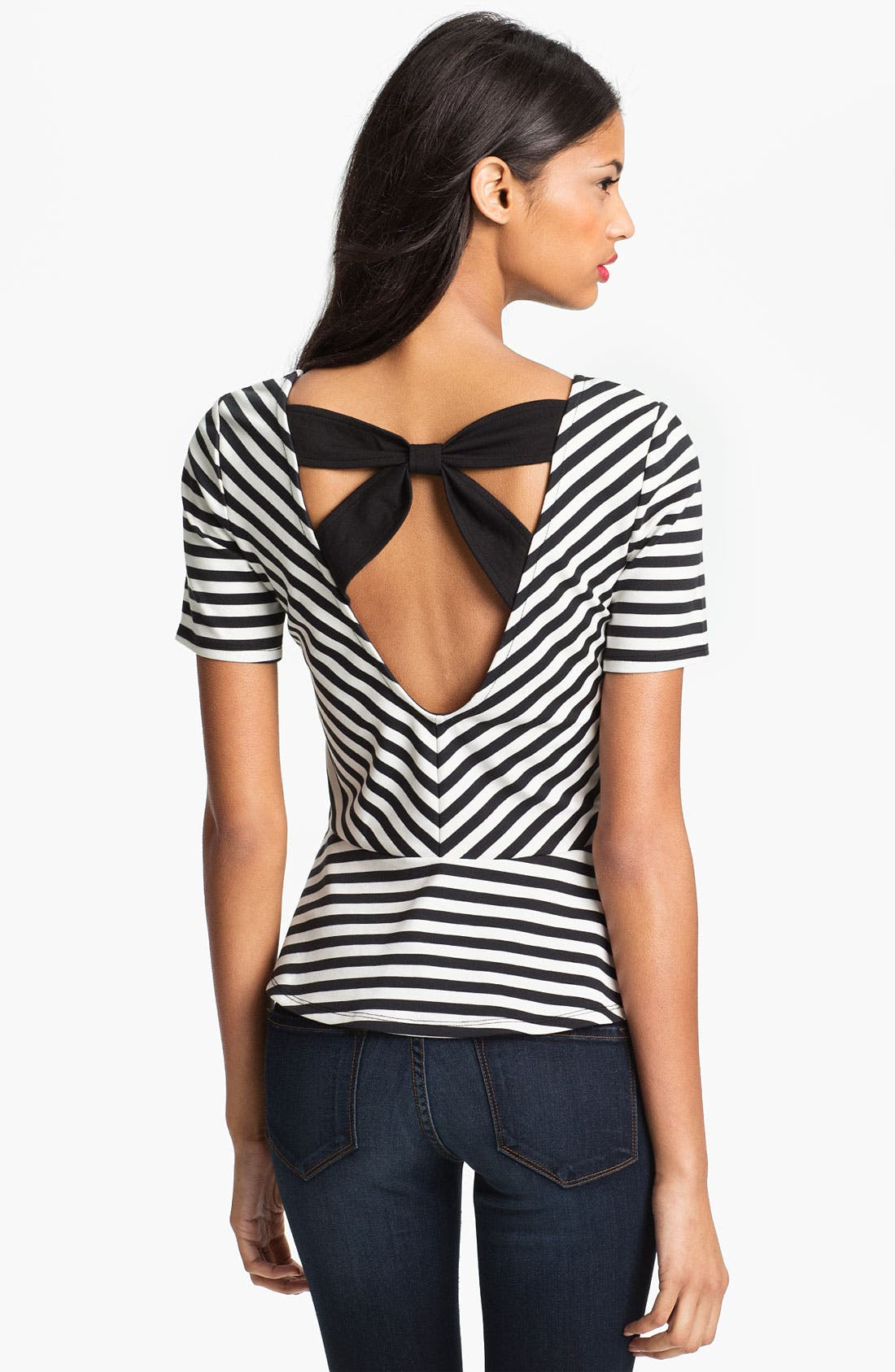 Alternate Image 1 Selected - Jessica Simpson 'Margeaux' Peplum Top (Online Exclusive)