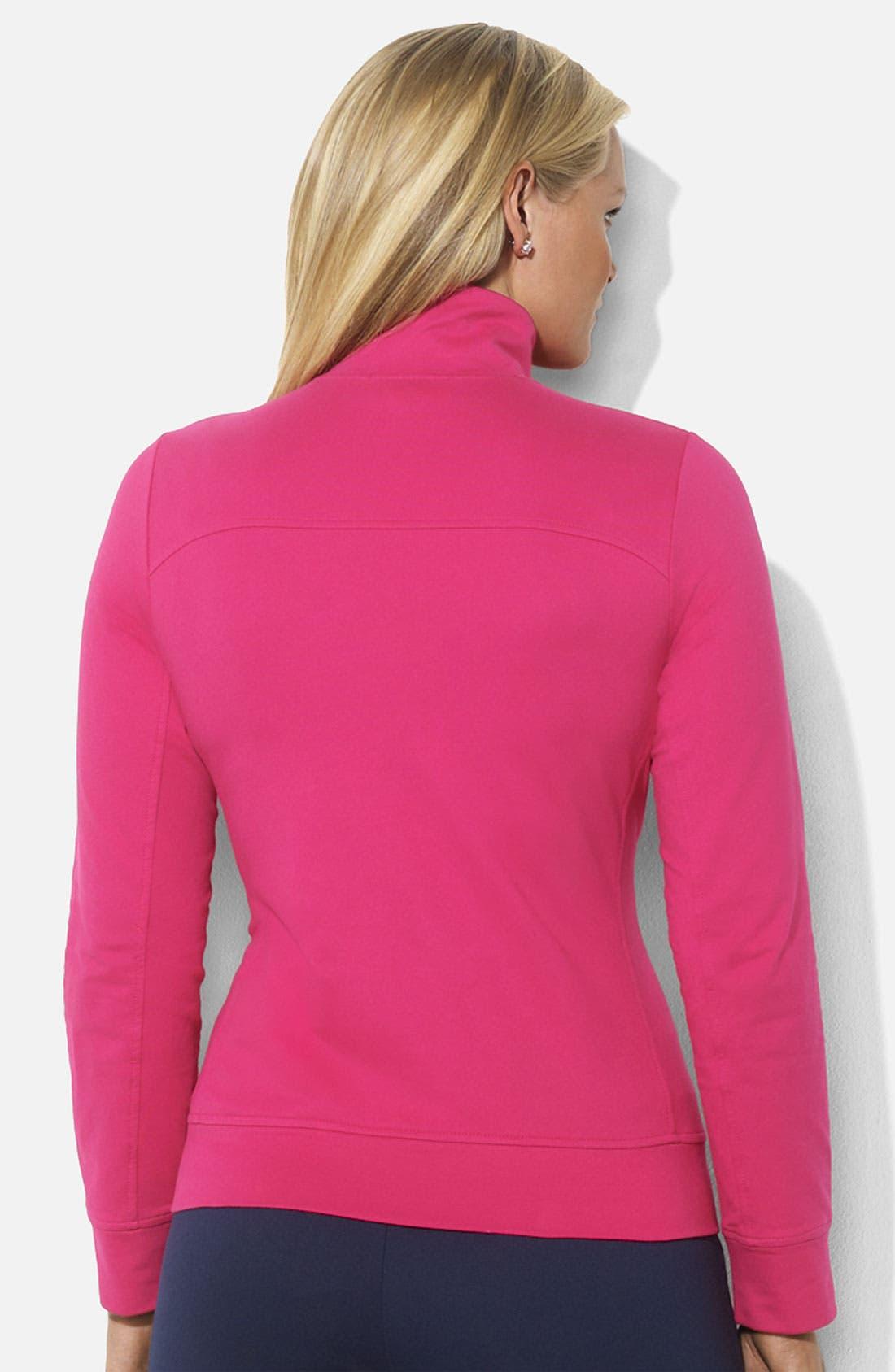 Alternate Image 2  - Lauren Ralph Lauren Mock Neck Zip Front Jacket (Plus)