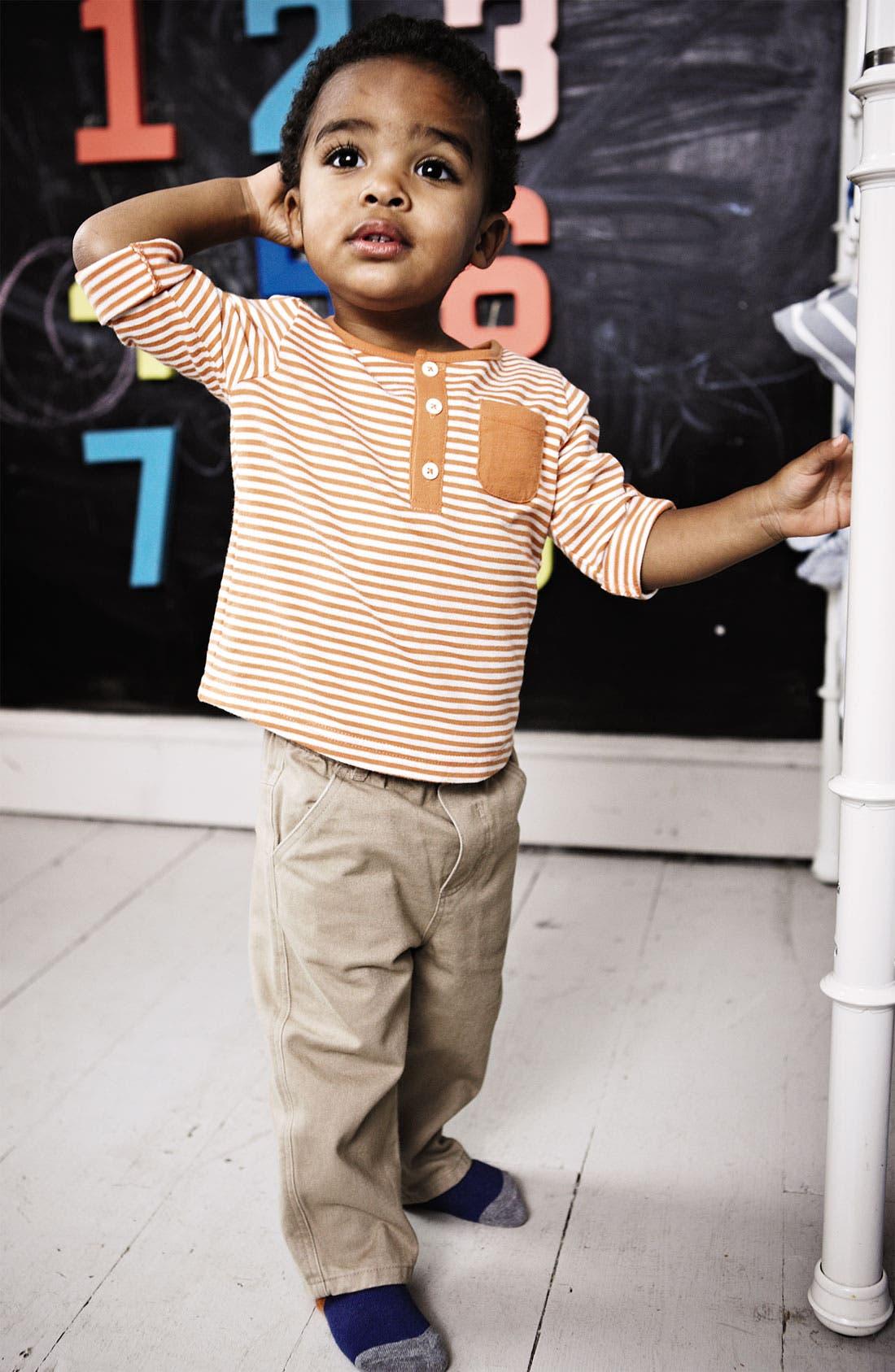 Alternate Image 2  - Mini Boden Henley Shirt (Baby)