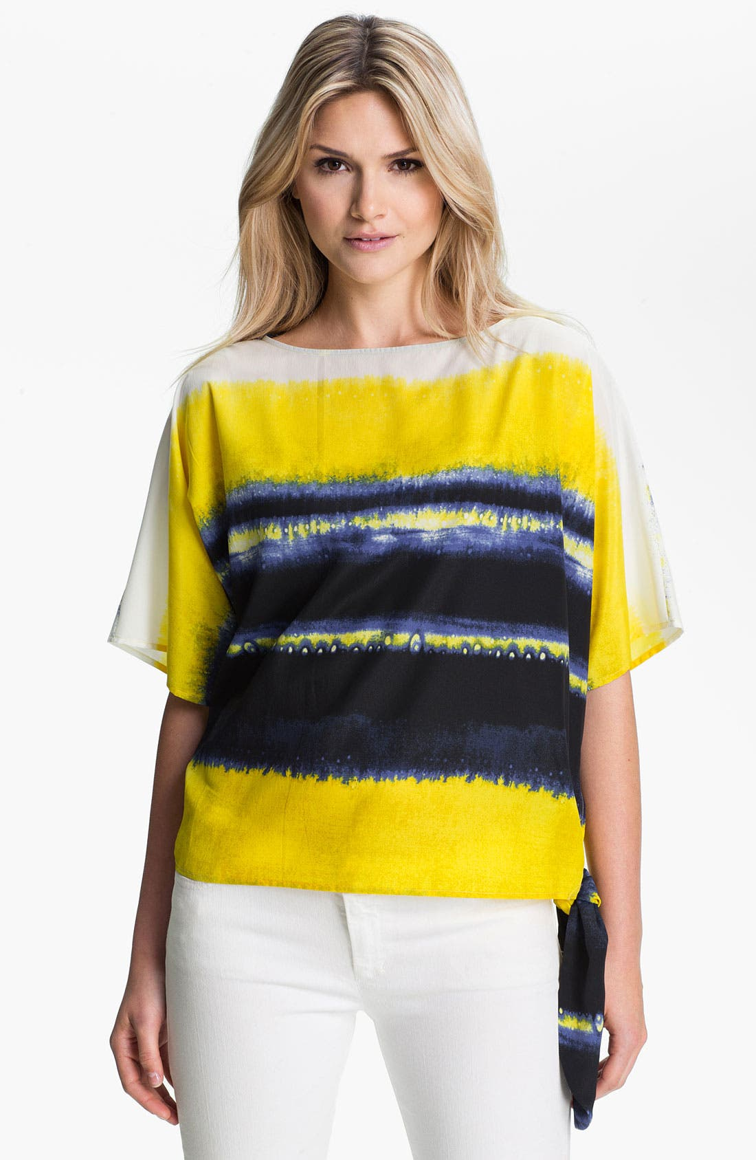 Main Image - MICHAEL Michael Kors Stripe Boatneck Top
