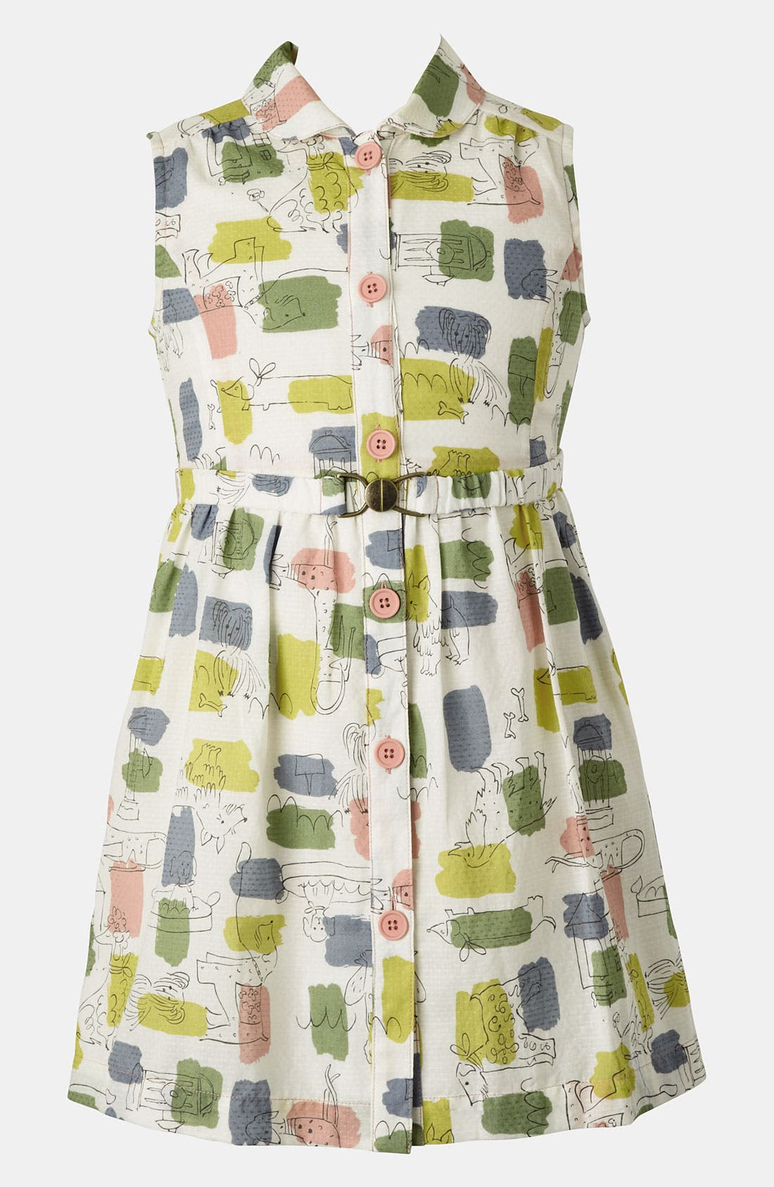 Alternate Image 1 Selected - Mini Boden 'Fifties' Shirtdress (Big Girls)