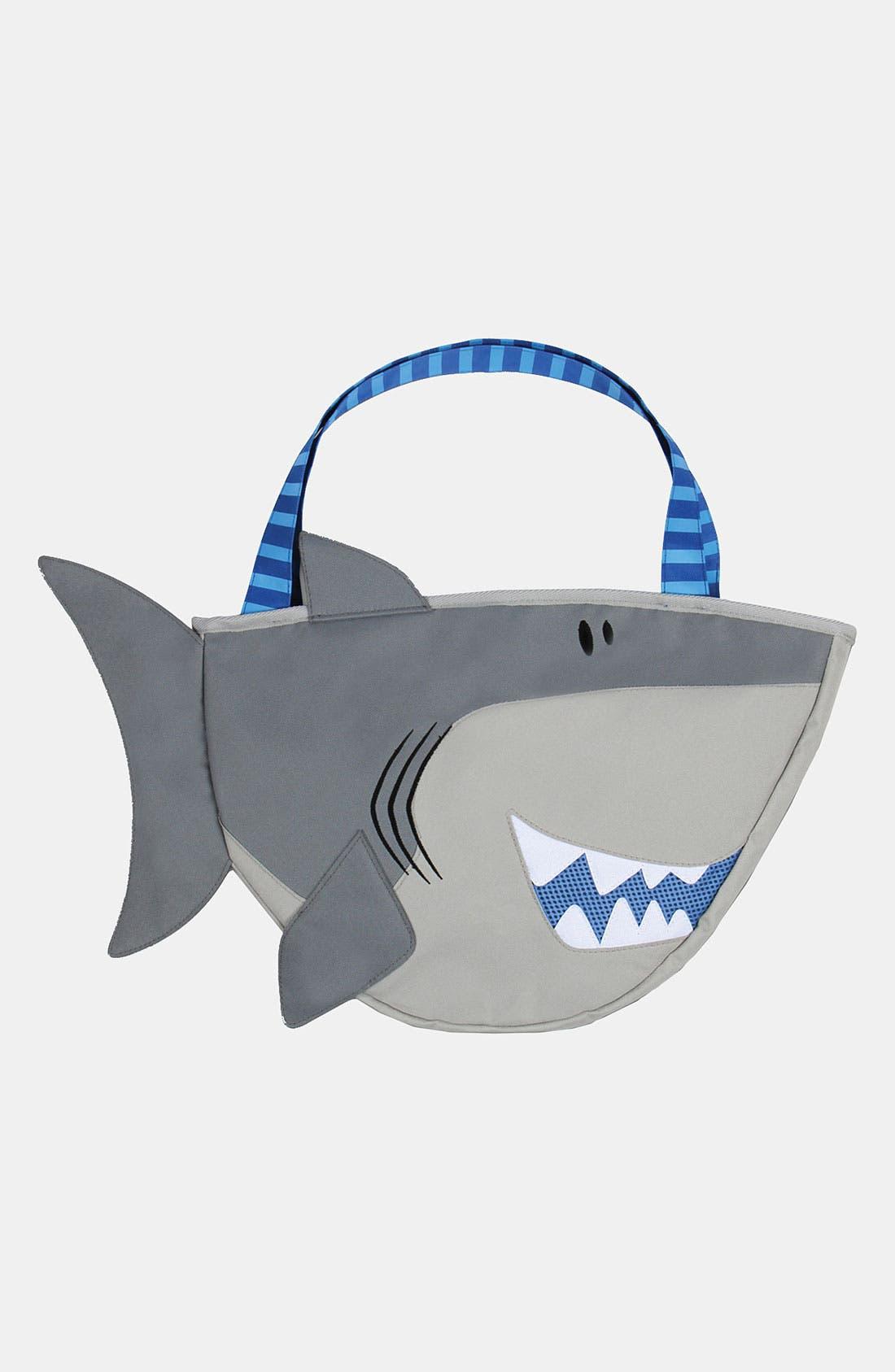 Alternate Image 1 Selected - Stephen Joseph 'Shark' Beach Tote & Toys