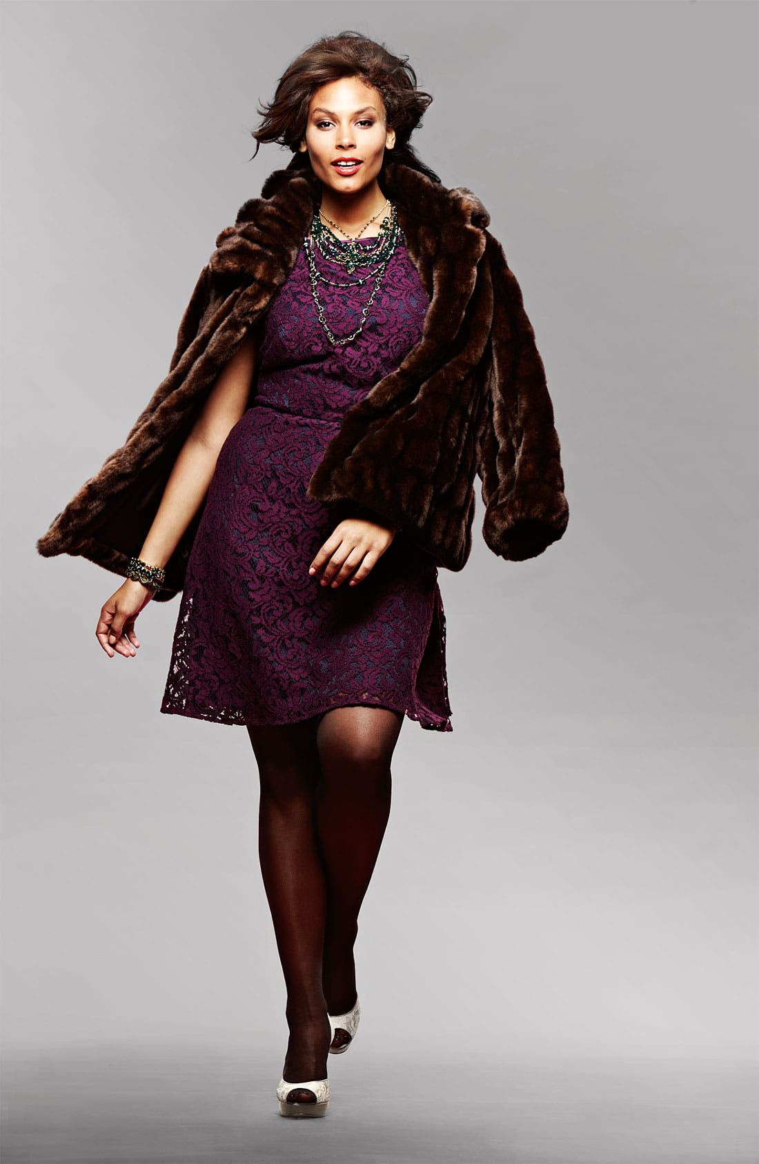 Alternate Image 4  - Adrianna Papell Lace Fit & Flare Dress (Plus)