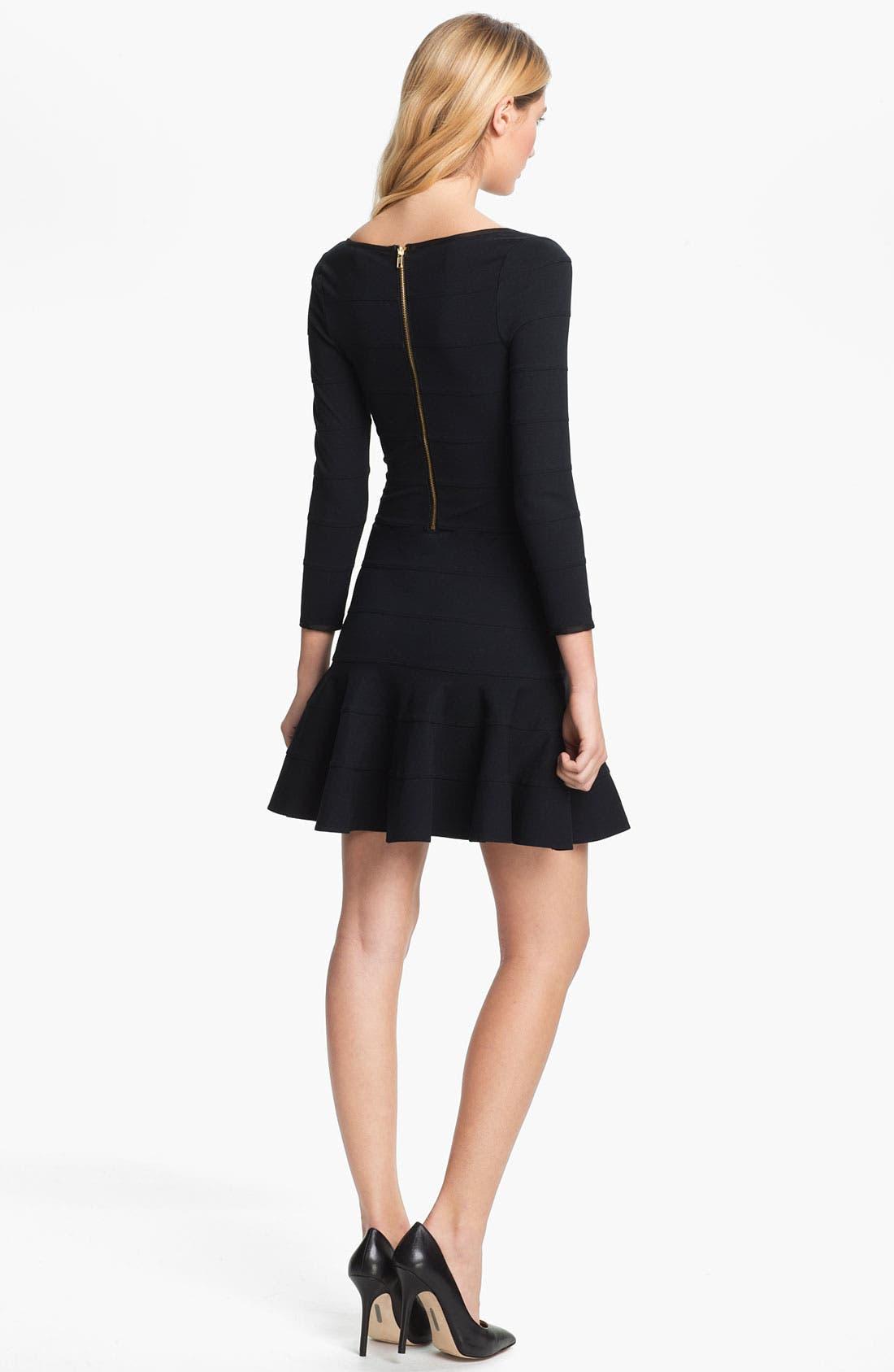 Alternate Image 2  - Juicy Couture Flared Bandage Dress