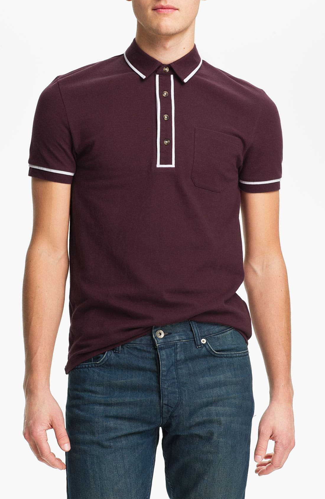Alternate Image 1 Selected - Topman Tipped Polo
