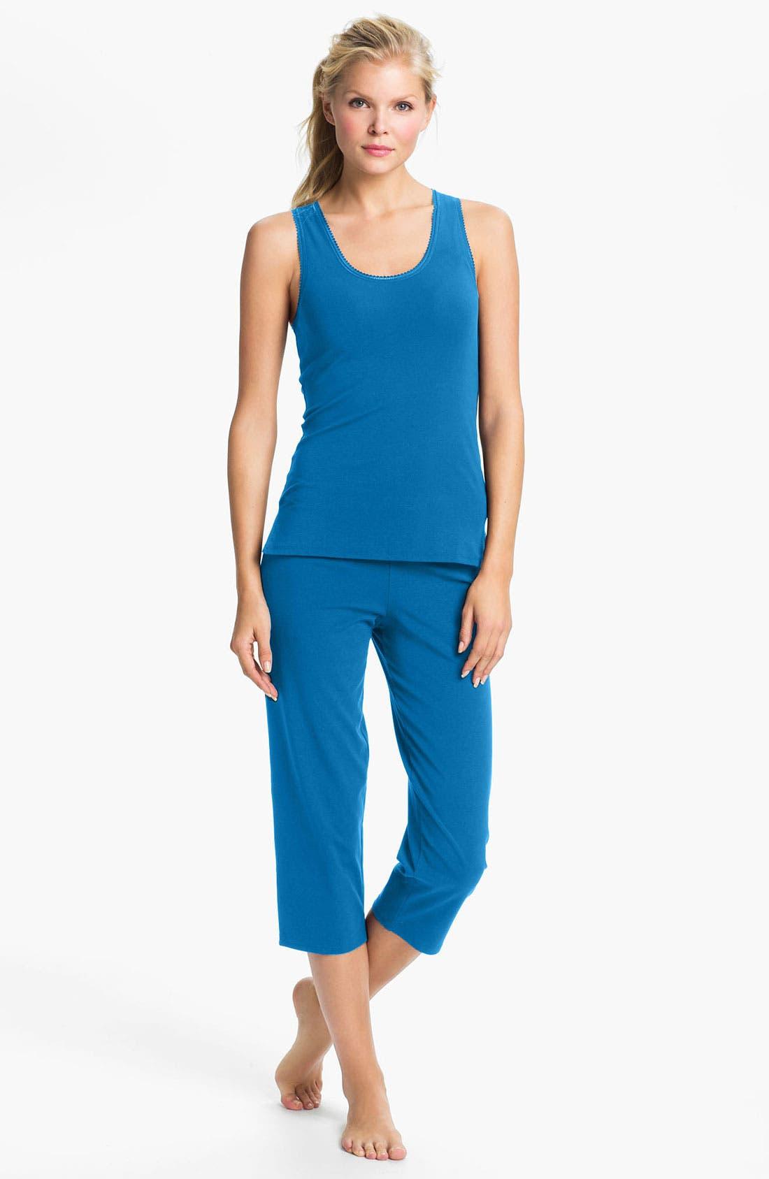 Alternate Image 1 Selected - On Gossamer 'Cabana' Cotton Capri Pajamas