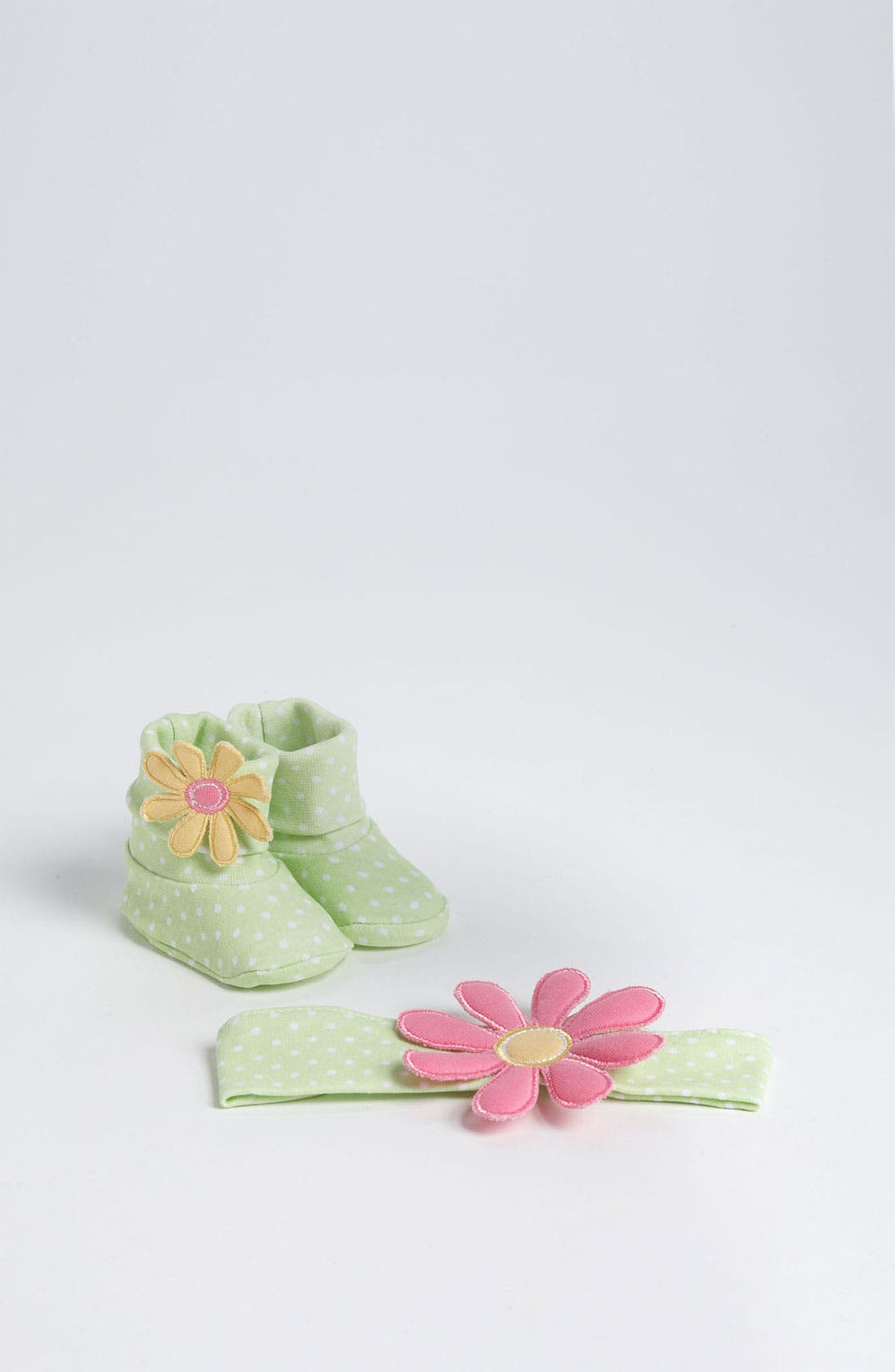 Alternate Image 1 Selected - Baby Aspen 'Bunch O Blooms' Headband & Booties (Infant)