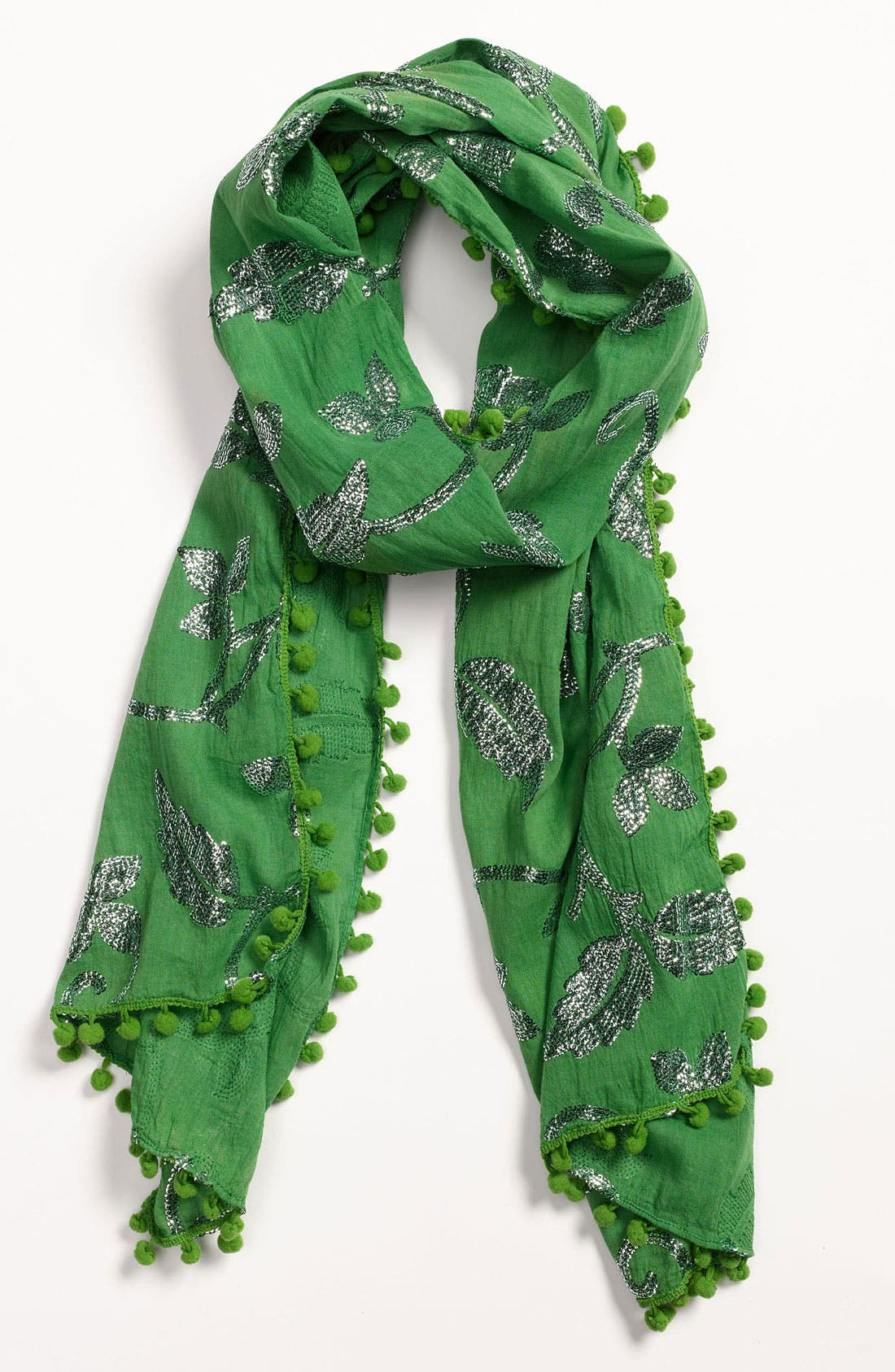 Main Image - Raj Imports 'Metallic Leaf' Scarf
