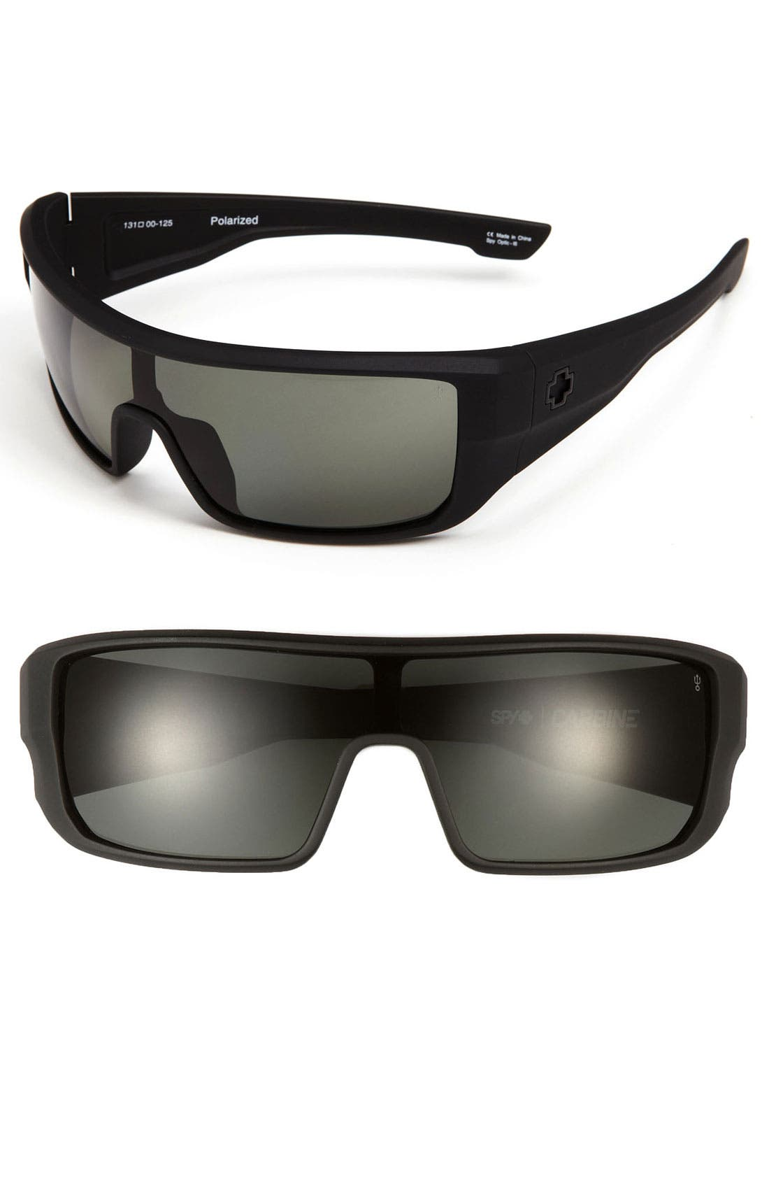 Alternate Image 1 Selected - SPY Optic 'Carbine' 131mm Polarized Shield Sunglasses