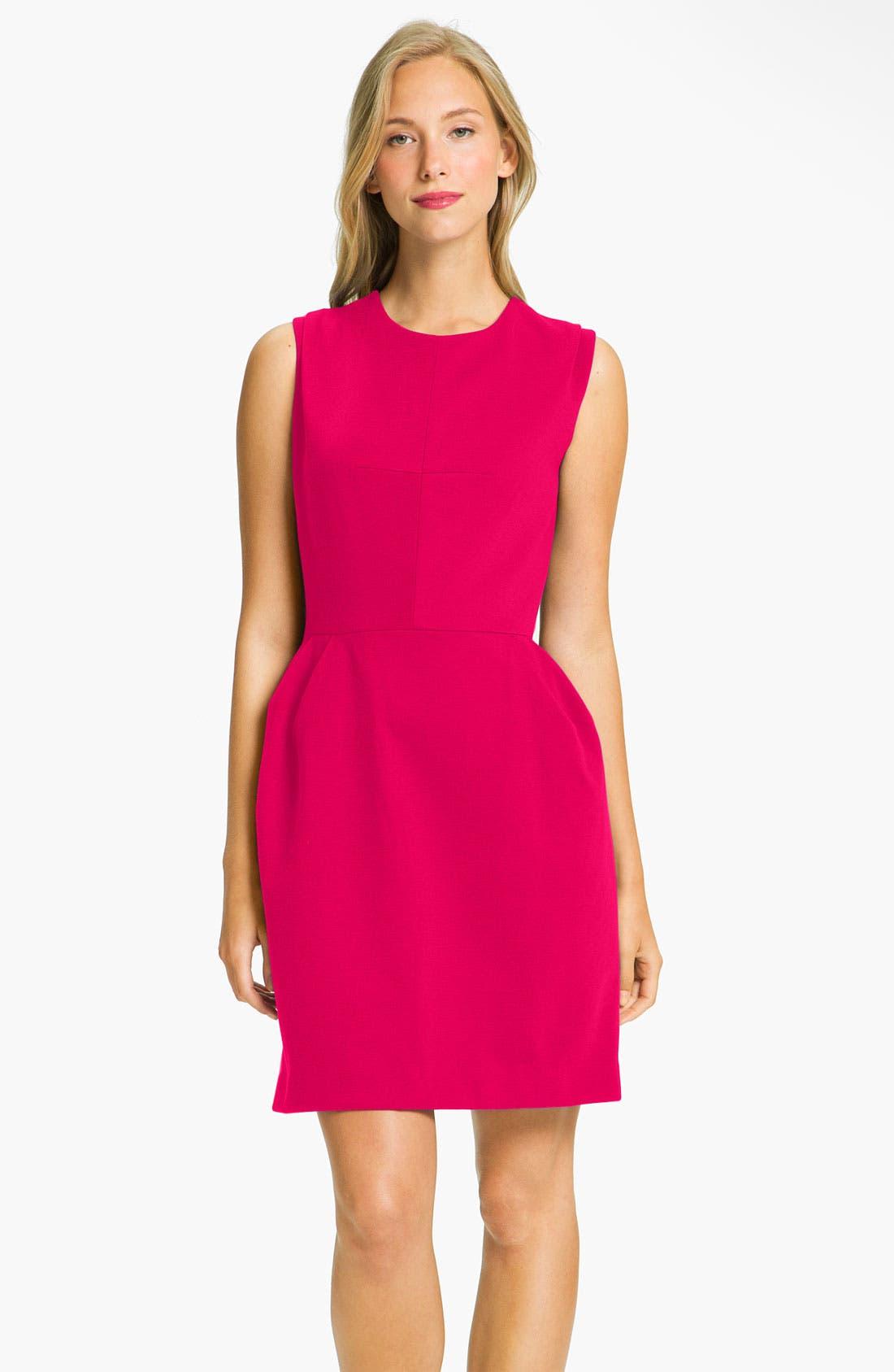 Main Image - Donna Morgan Sleeveless Ponte Knit Tulip Dress (Petite)