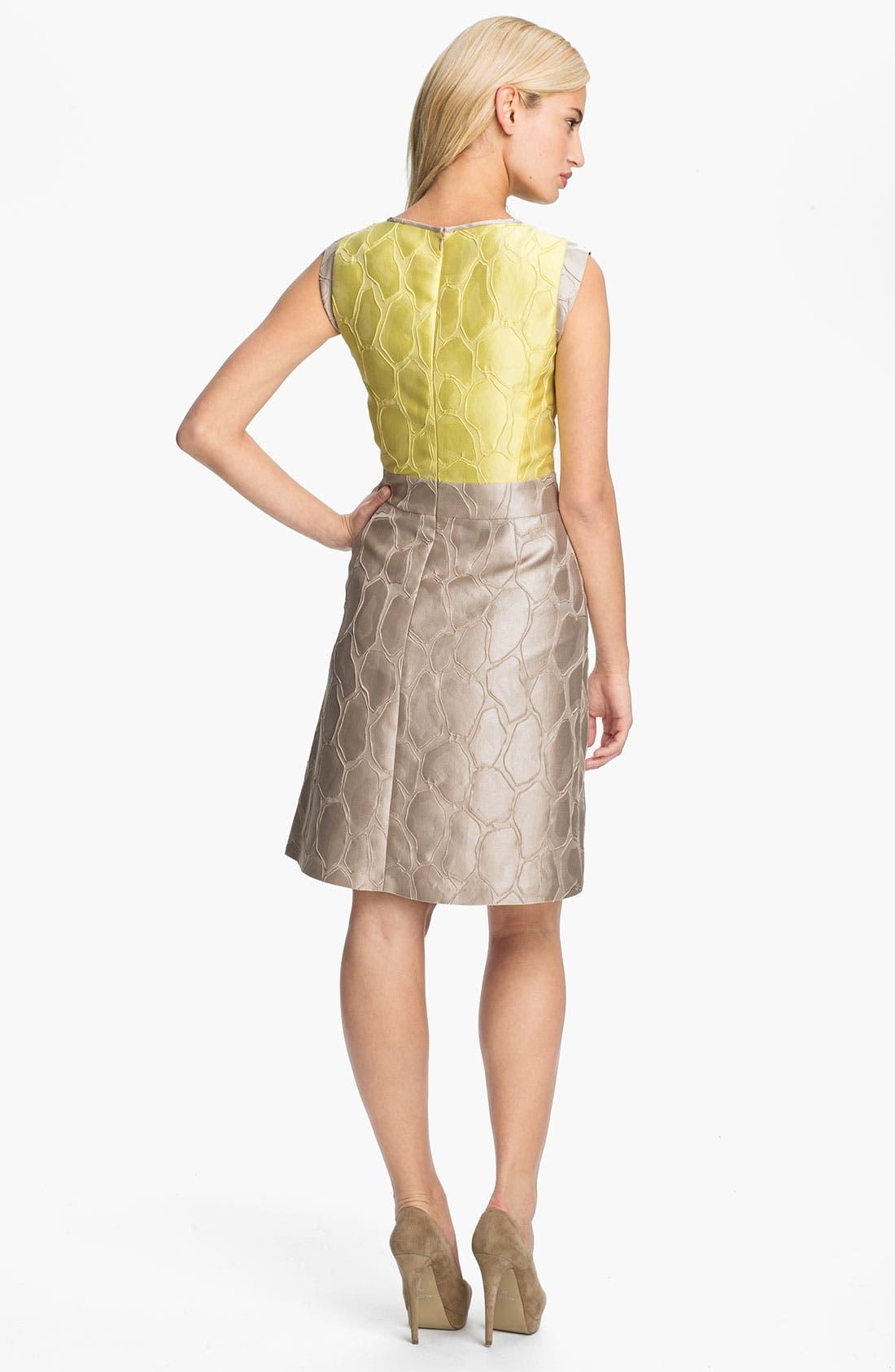 Alternate Image 2  - Lafayette 148 New York 'Elle' Giraffe Jacquard Dress