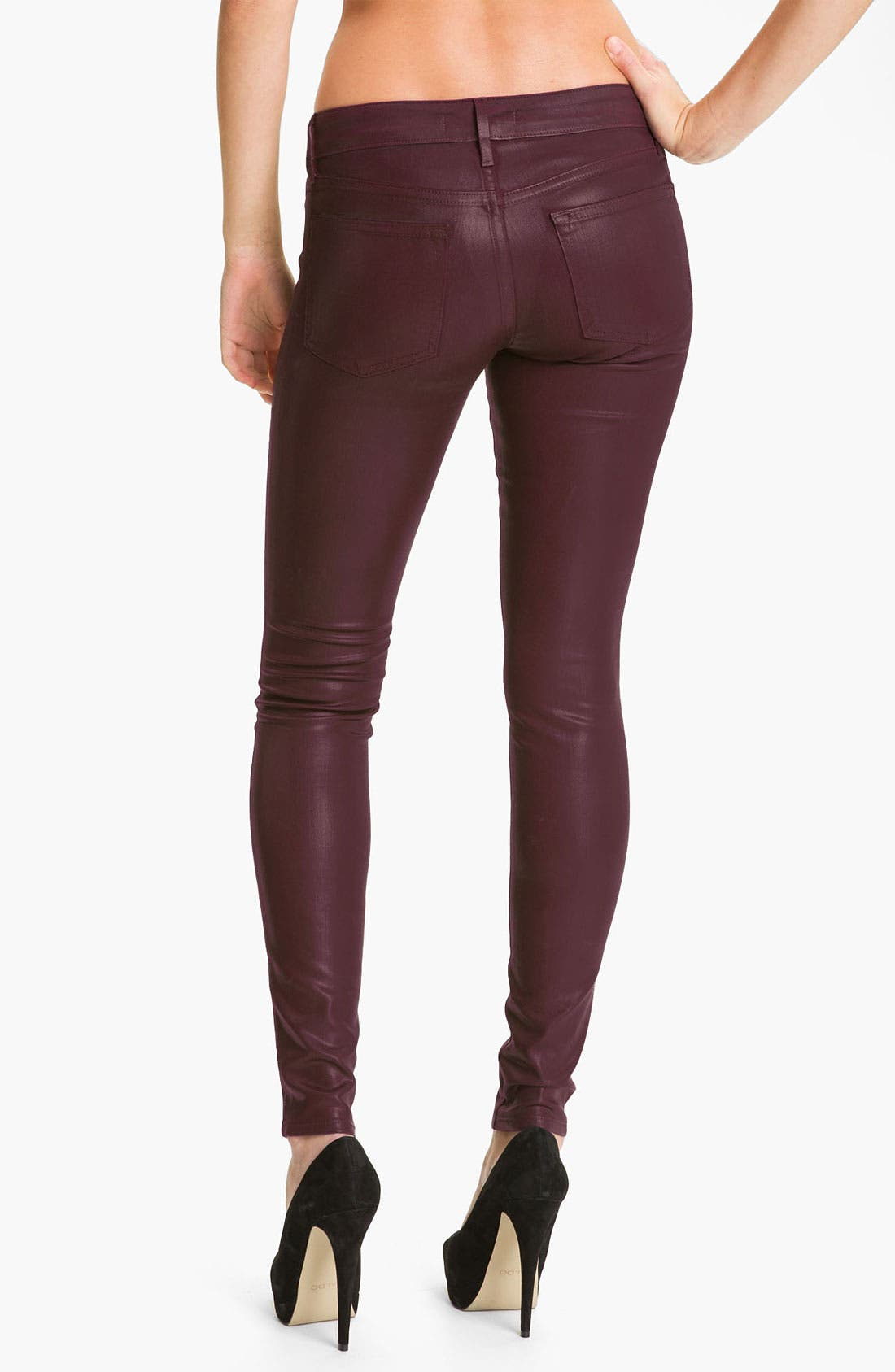 Alternate Image 2  - Rich & Skinny 'Legacy Leather' Faux Leather Skinny Jeans (Oxblood)