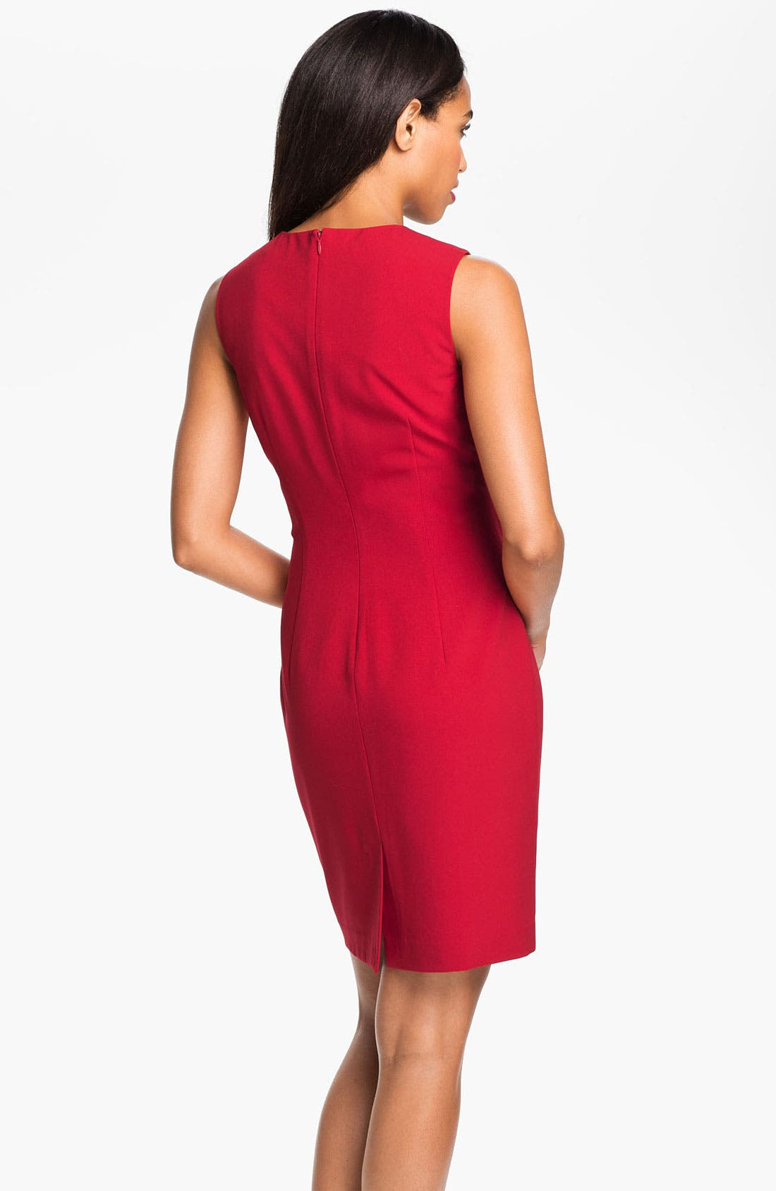 Alternate Image 2  - Calvin Klein Sleeveless Pintuck Dress