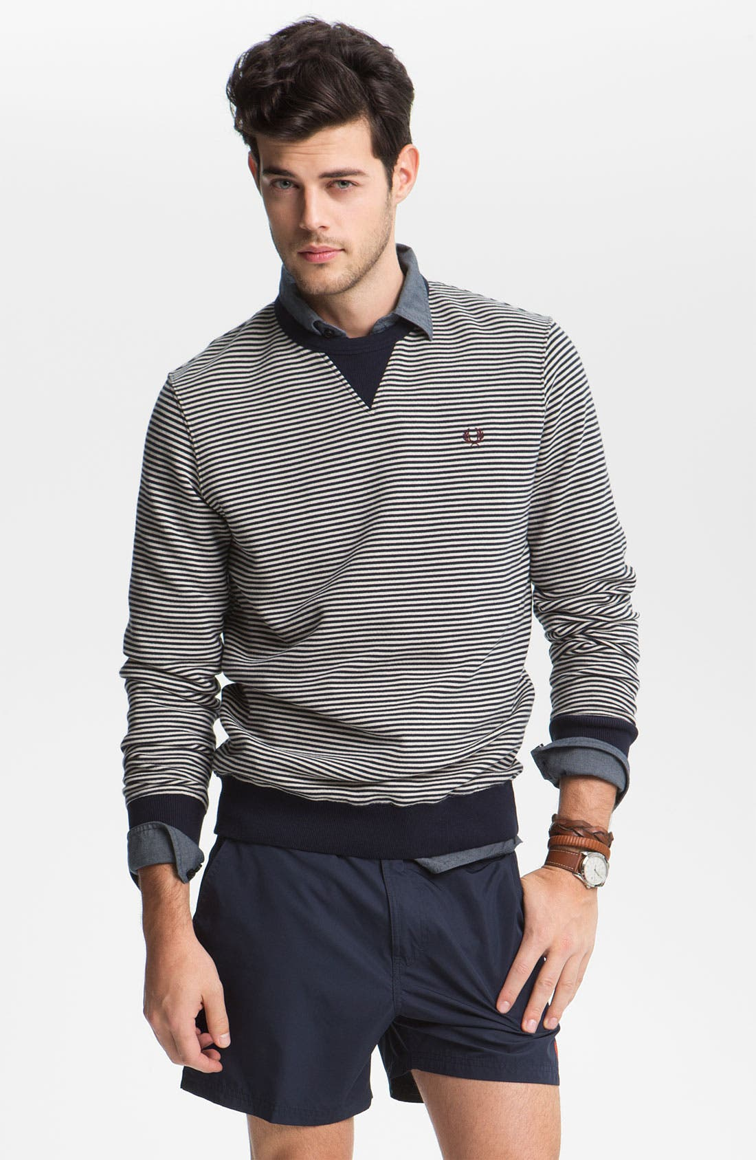 Main Image - Fred Perry Crewneck Sweater