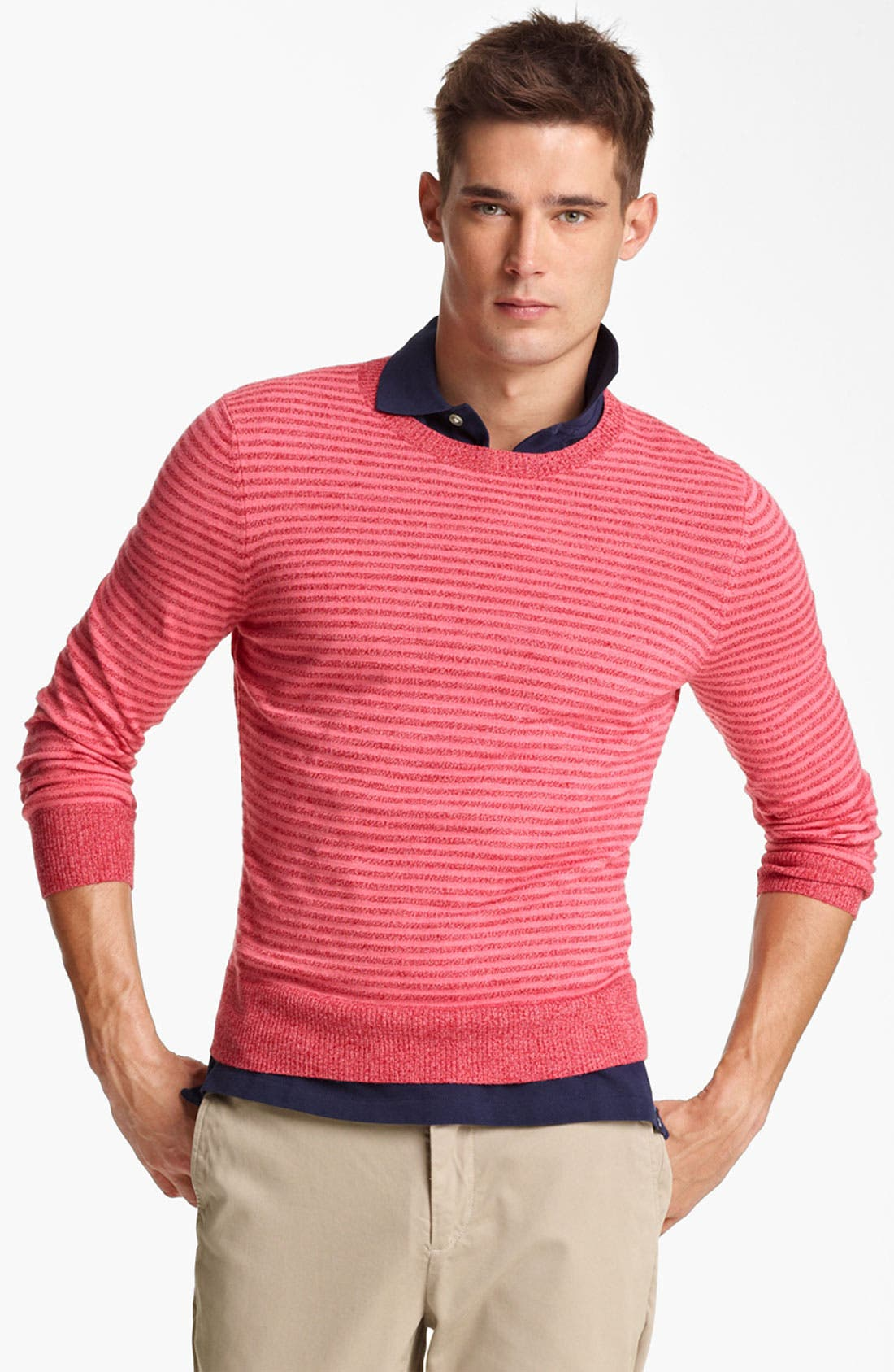 Alternate Image 1 Selected - Jack Spade 'Judson' Stripe Merino Wool Crewneck Sweater
