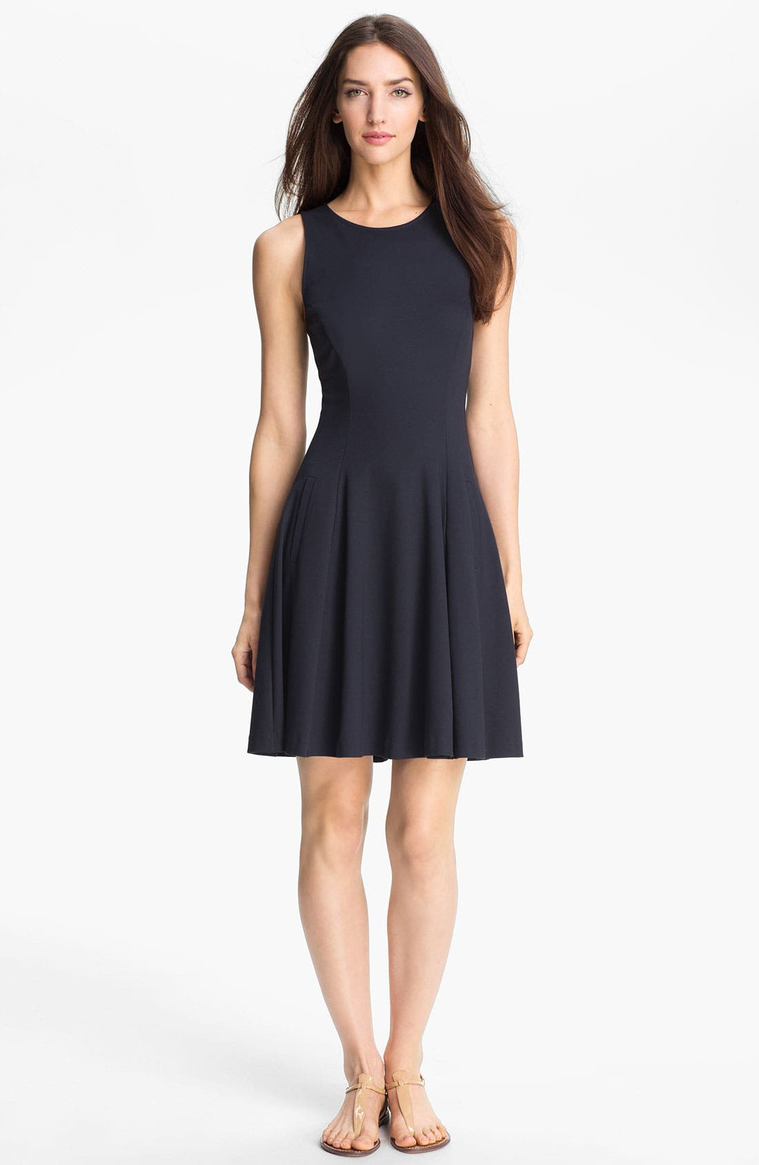 Main Image - Theory 'Panoa' Stretch Fit & Flare Dress