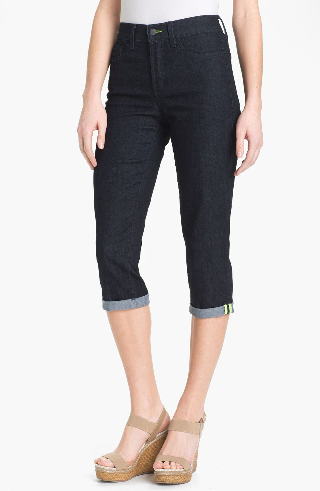 Alternate Image 1 Selected - NYDJ 'Fiona' Roll Cuff Crop Jeans
