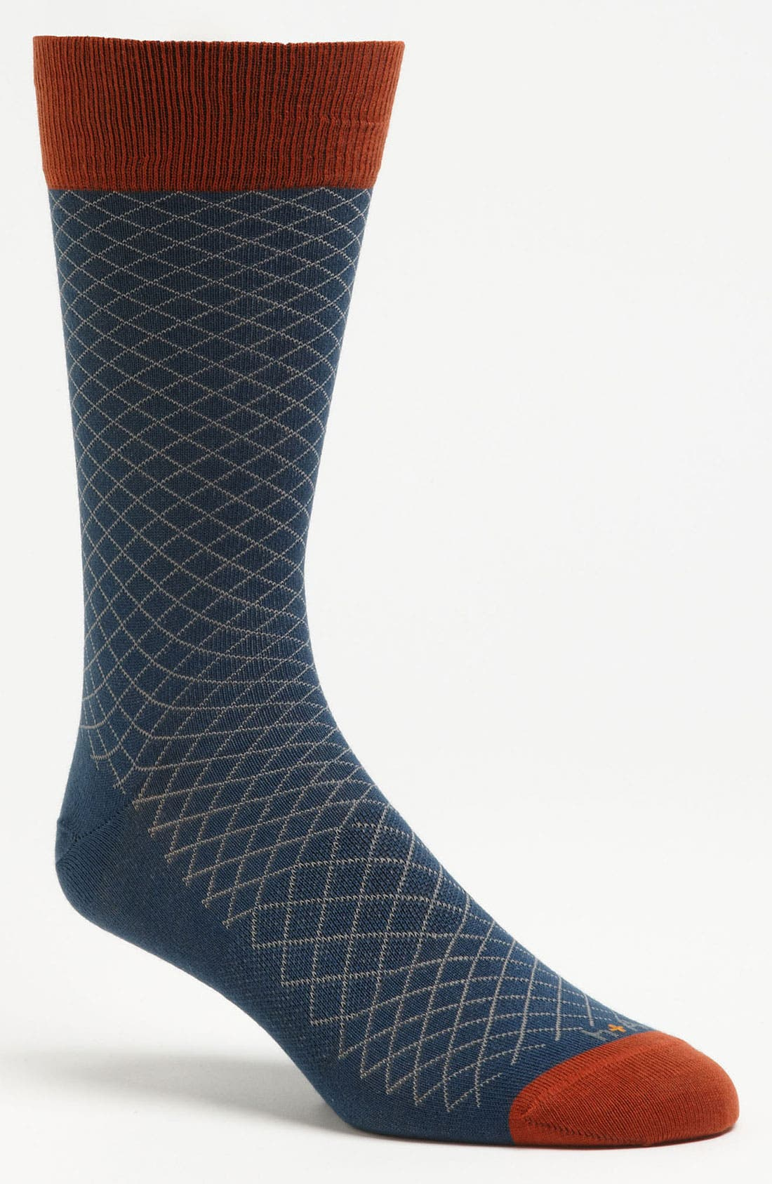 Alternate Image 1 Selected - hook + ALBERT Grid Socks
