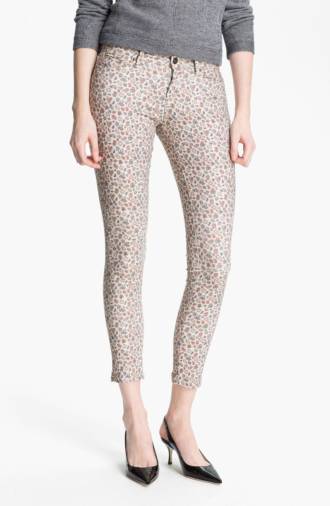Main Image - Twenty8Twelve 'Ashberry' Skinny Print Stretch Jeans