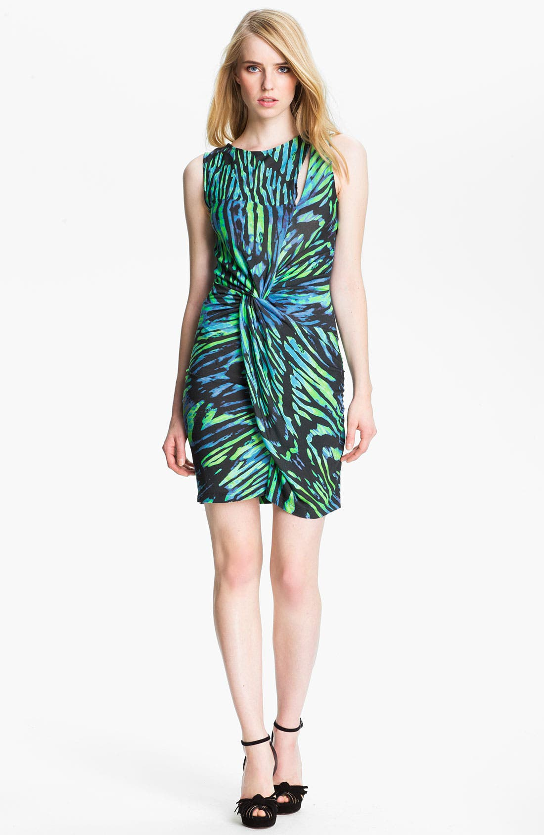 Alternate Image 1 Selected - Halston Heritage Twist Front Jersey Sheath Dress