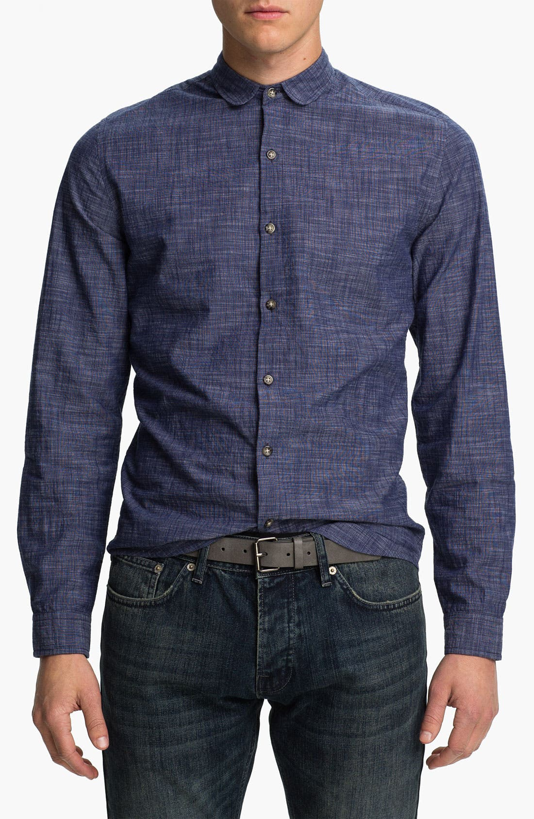 Alternate Image 1 Selected - Topman Slim Fit Chambray Shirt