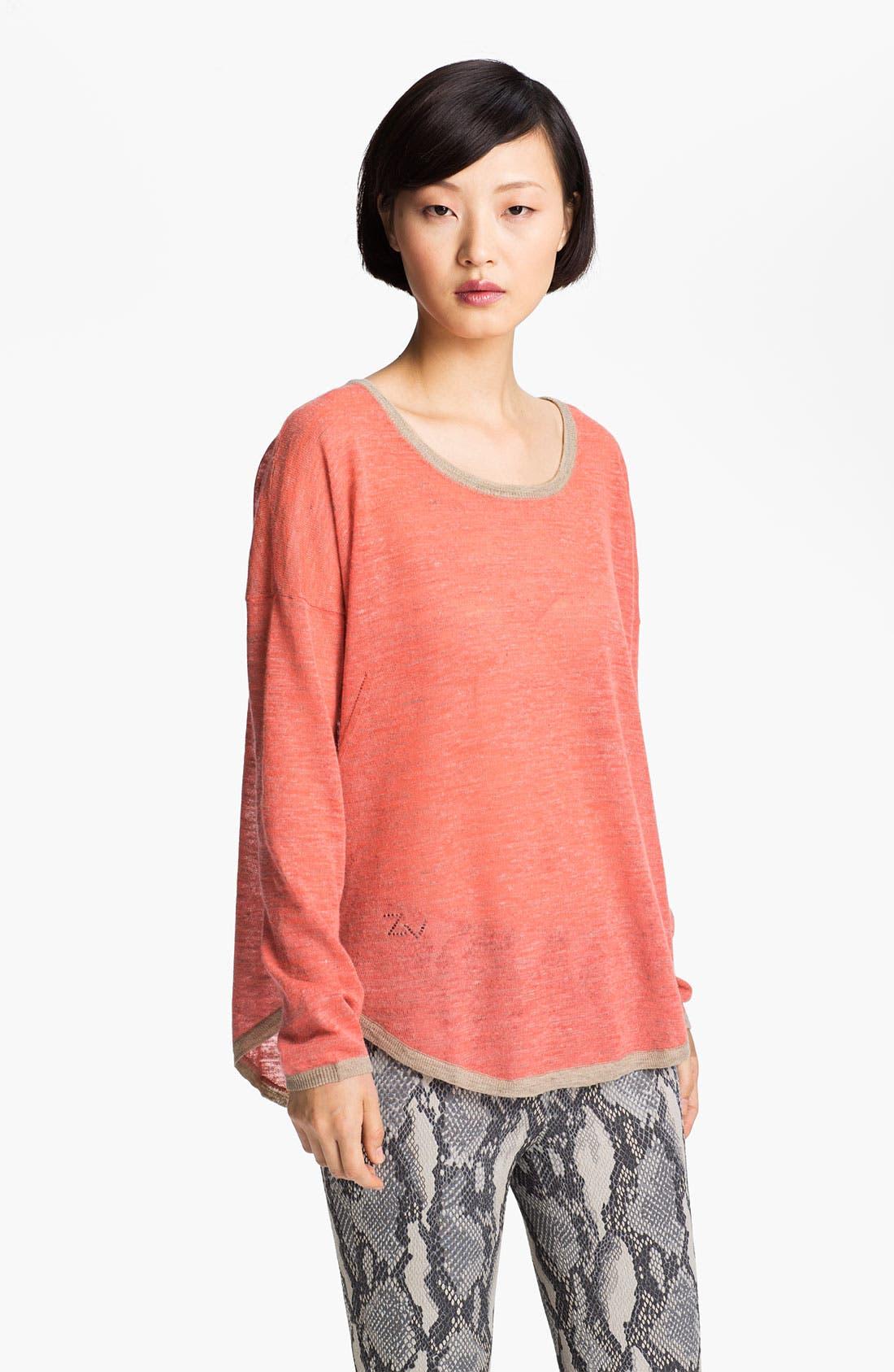 Alternate Image 1 Selected - Zadig & Voltaire 'Kimmi' Contrast Trim Sweater