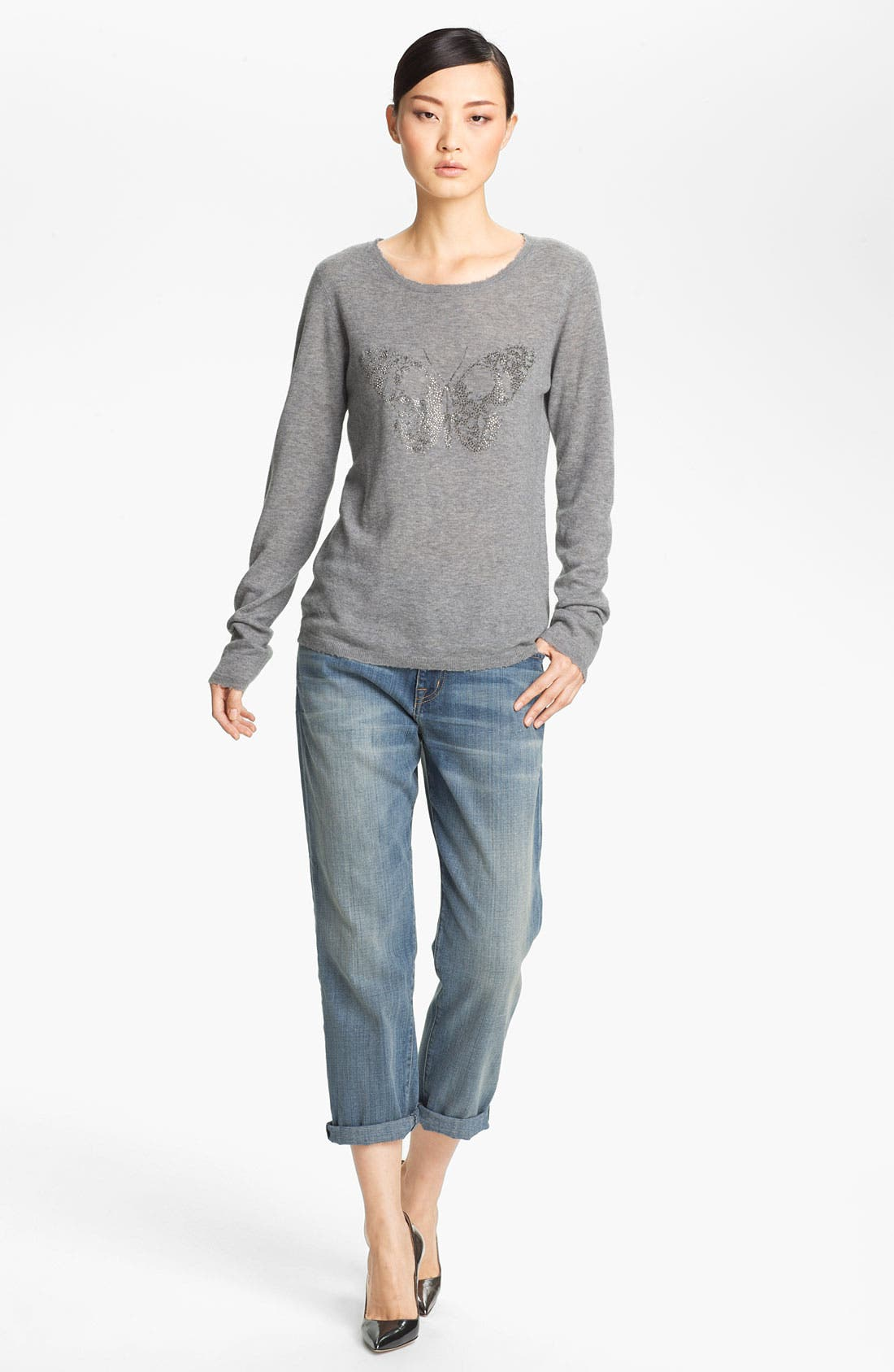 Alternate Image 1 Selected - Zadig & Voltaire Butterfly Print Cashmere Sweater