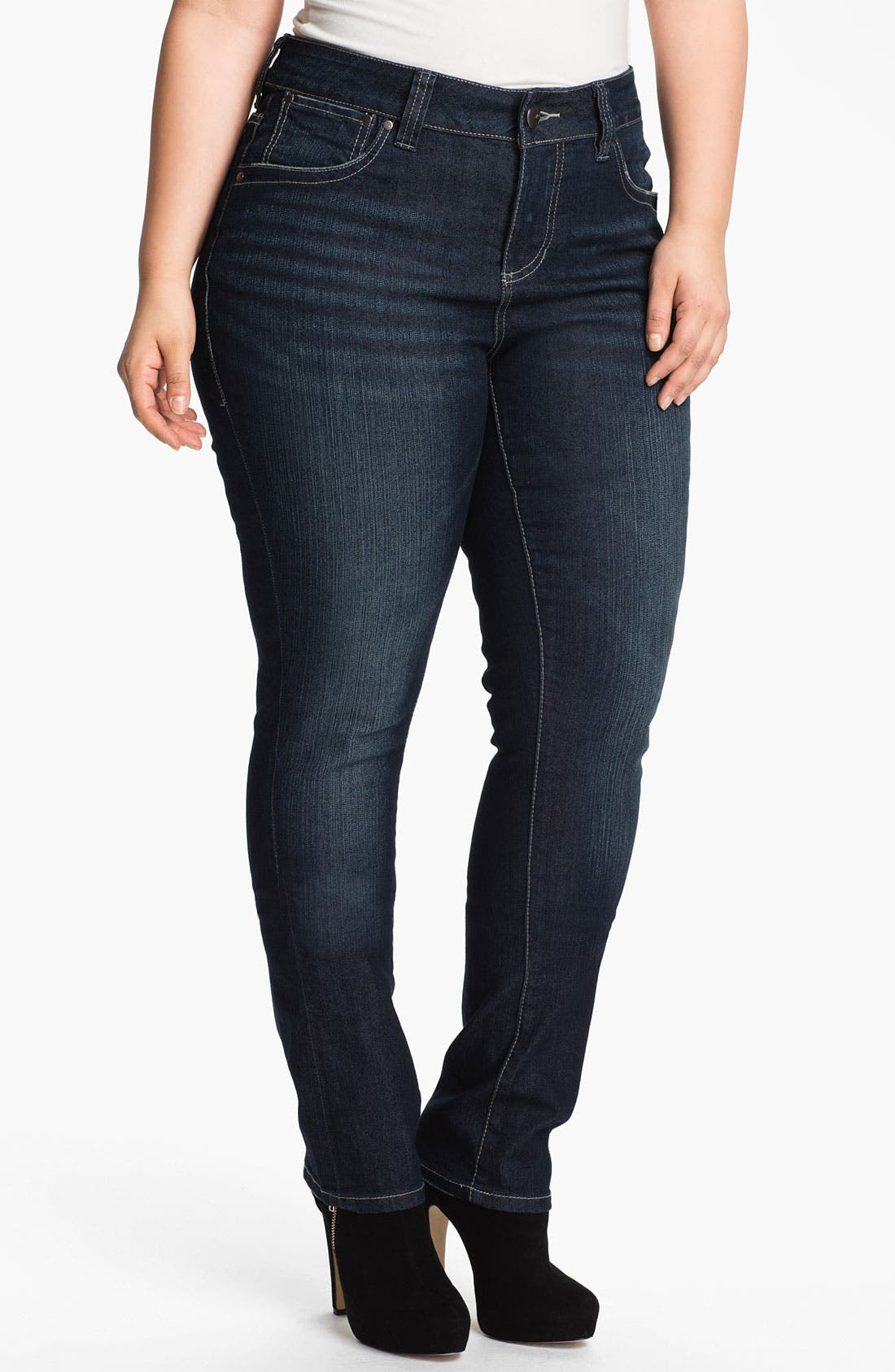 Alternate Image 1 Selected - Jag Jeans 'Bevin' Slim Stretch Jeans (Plus Size)