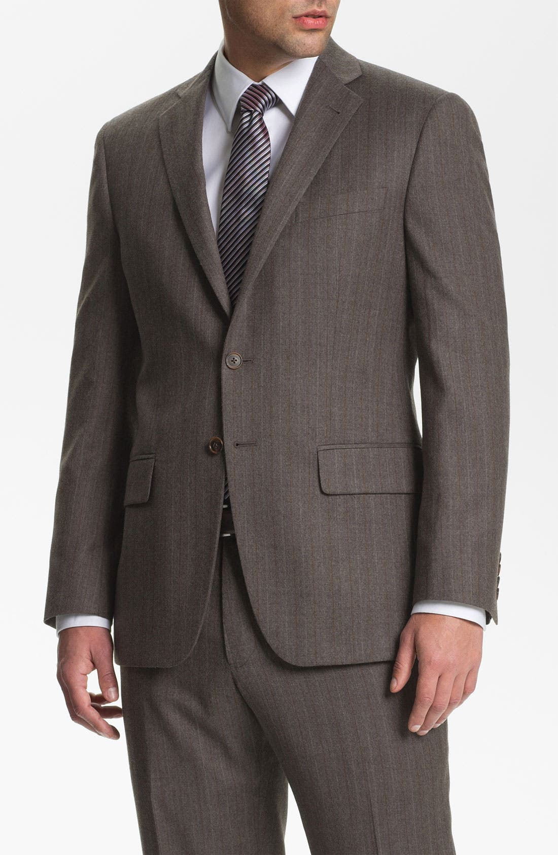 Alternate Image 1 Selected - Joseph Abboud 'Profile' Trim Fit Stripe Suit