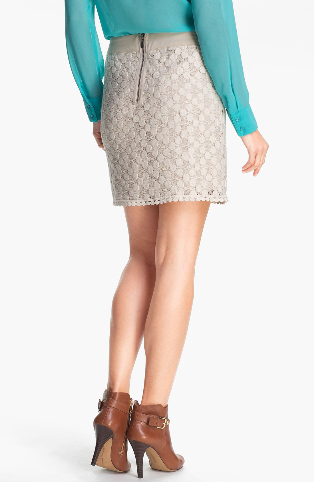 Alternate Image 2  - Kensie Dot Lace Skirt