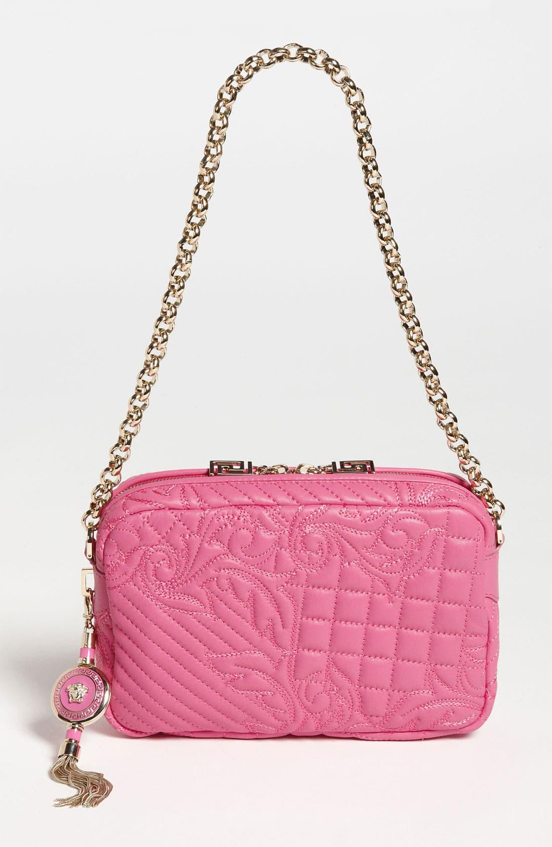 Main Image - Versace 'Vanitas' Embroidered Leather Shoulder Bag