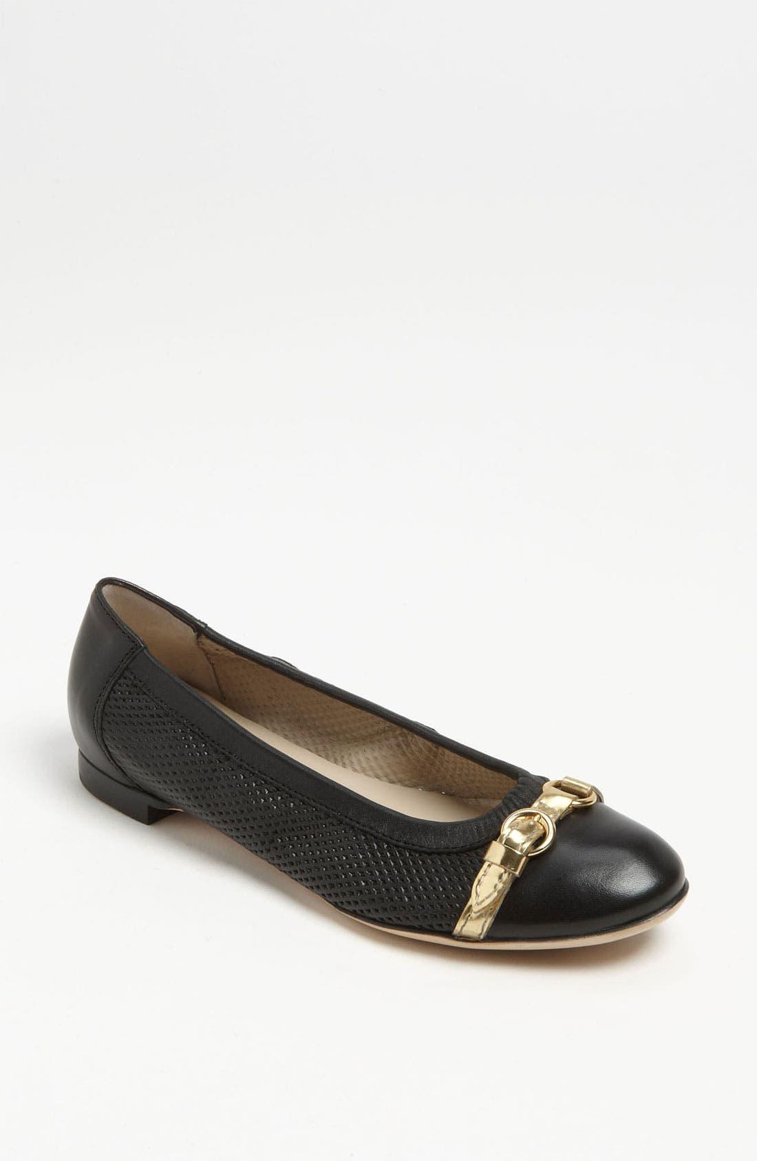 Alternate Image 1 Selected - Attilio Giusti Leombruni Perforated Toe Cap Ballet Flat