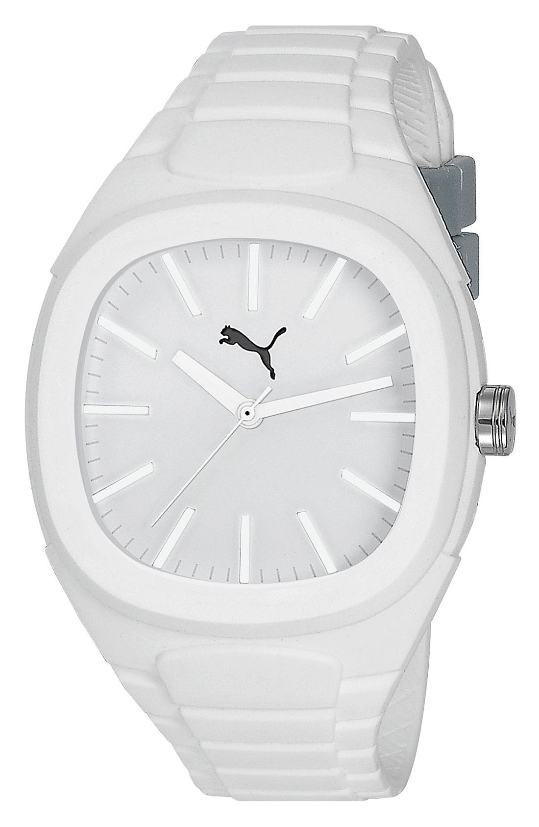 Alternate Image 1 Selected - PUMA 'Bubblegum - Large' Silicone Watch, 40mm x 44mm