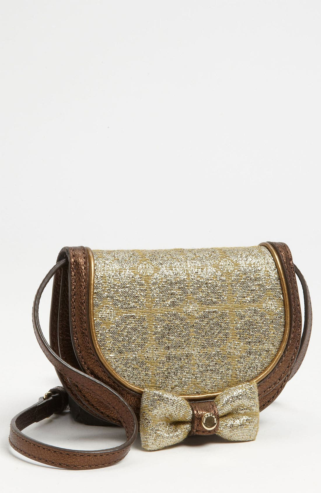 Alternate Image 1 Selected - Burberry 'Cora' Jacquard Bow Crossbody Bag (Girls)