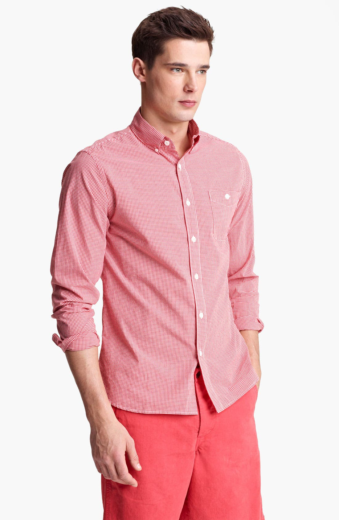 Main Image - Todd Snyder Micro Gingham Shirt
